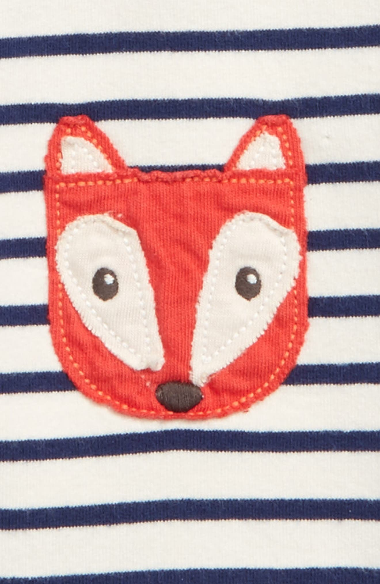 Alternate Image 2  - Mini Boden Fun Fox Appliqué Pants (Baby Boys & Toddler Boys)