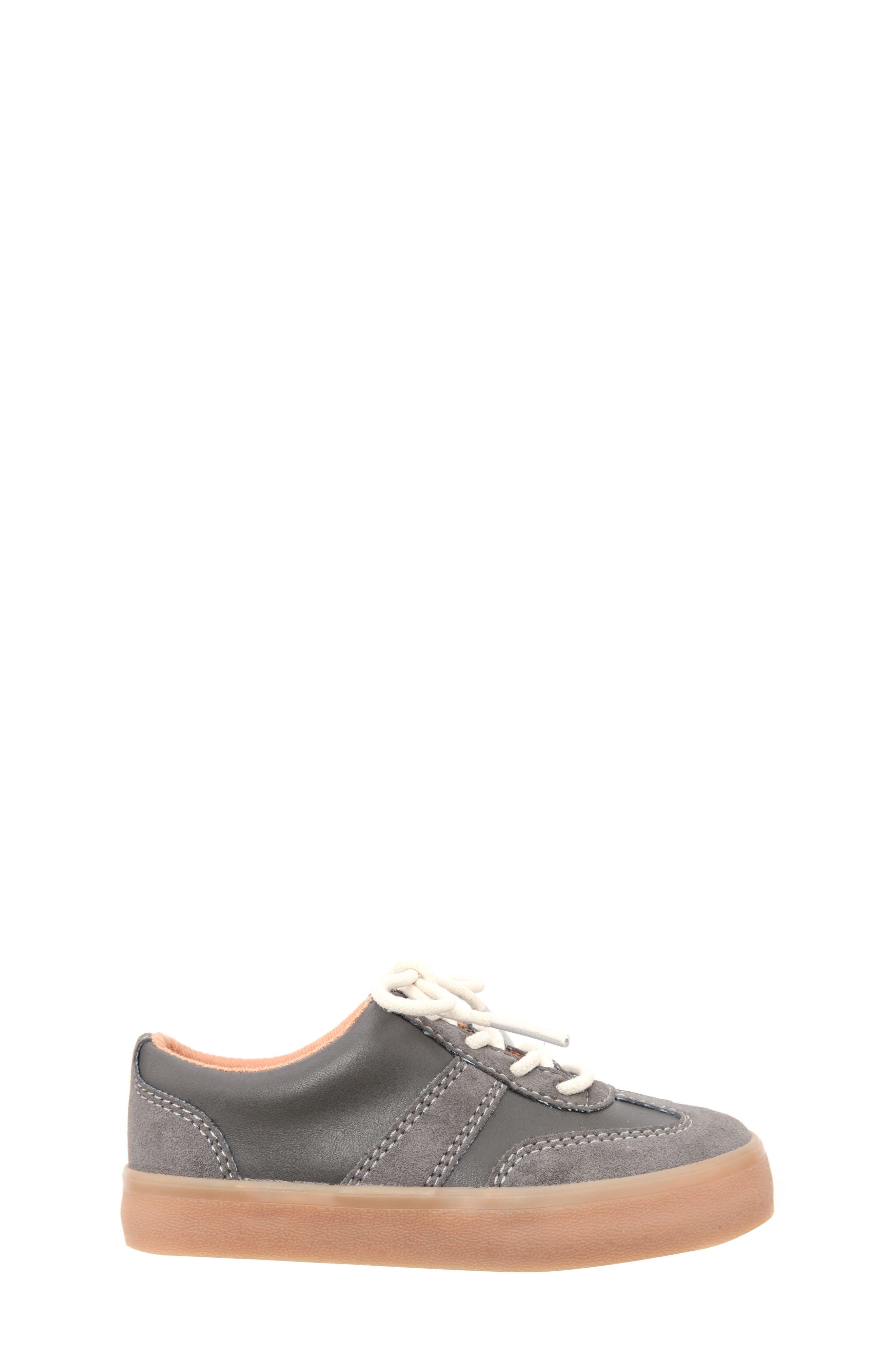 Neal Low Top Sneaker,                             Alternate thumbnail 3, color,                             Grey Suede