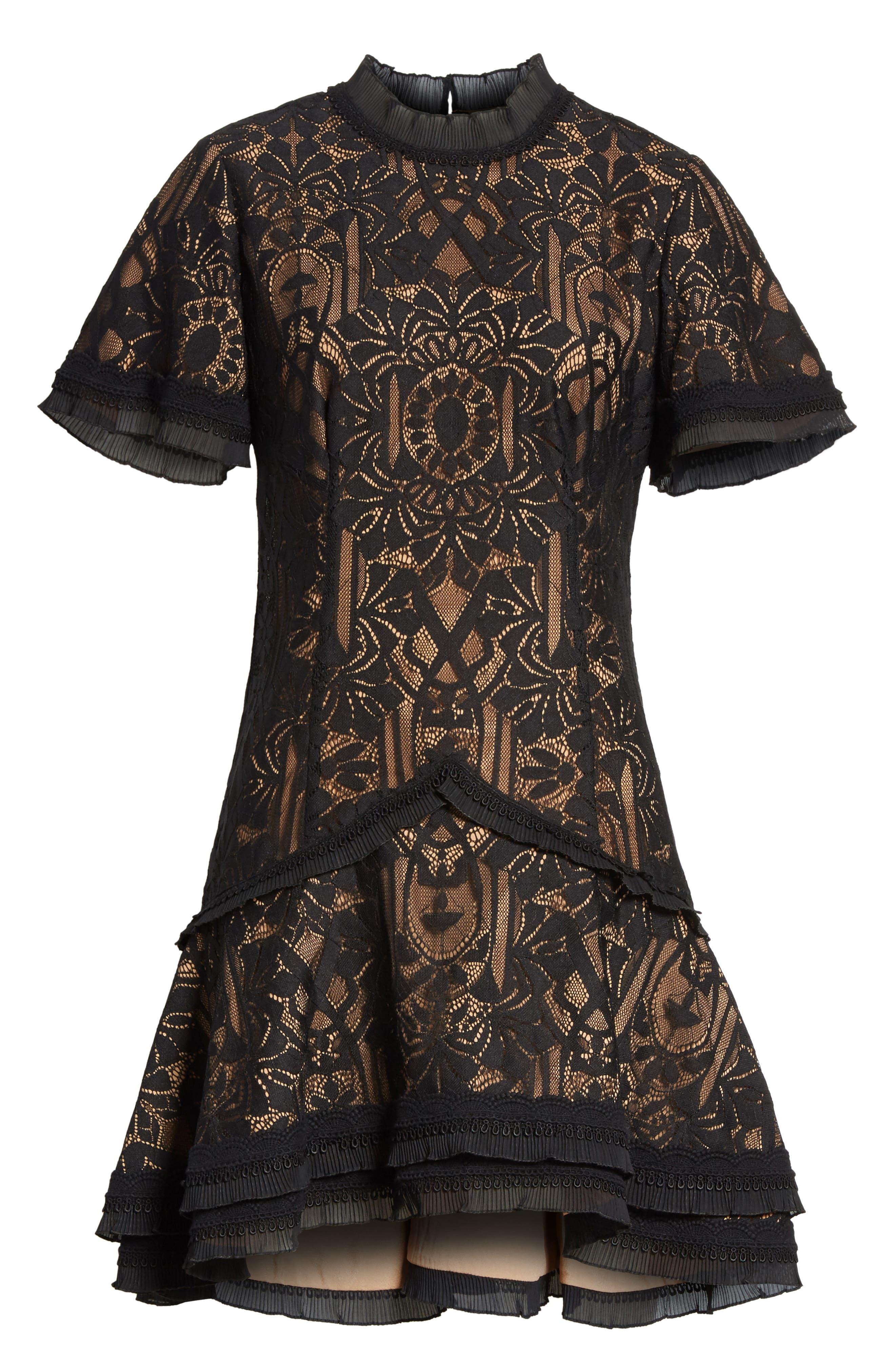 Alternate Image 6  - Jonathan Simkhai Tower Mesh Lace Ruffle Minidress
