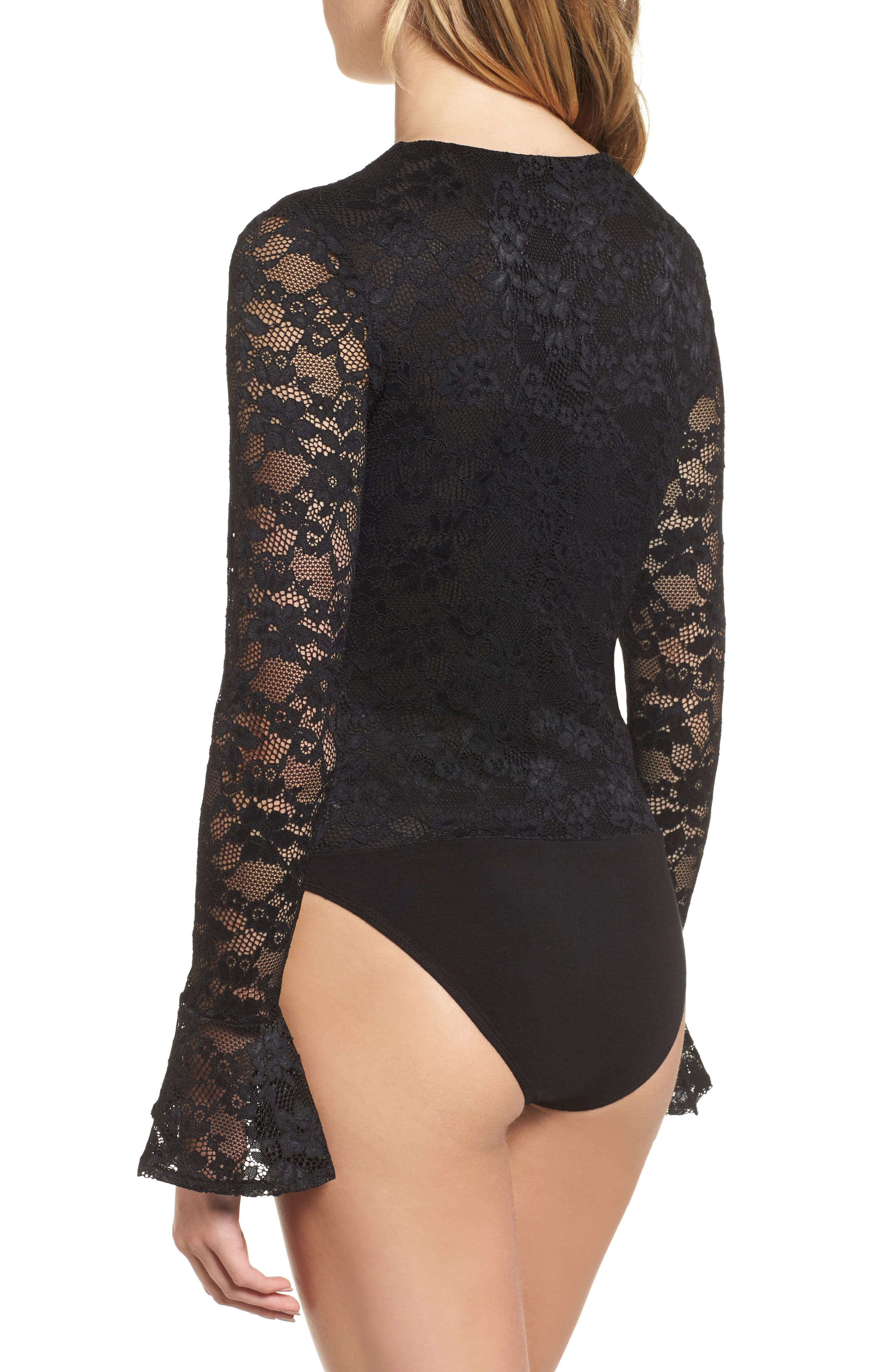 Alternate Image 2  - WAYF Hunter Lace-Up Bodysuit