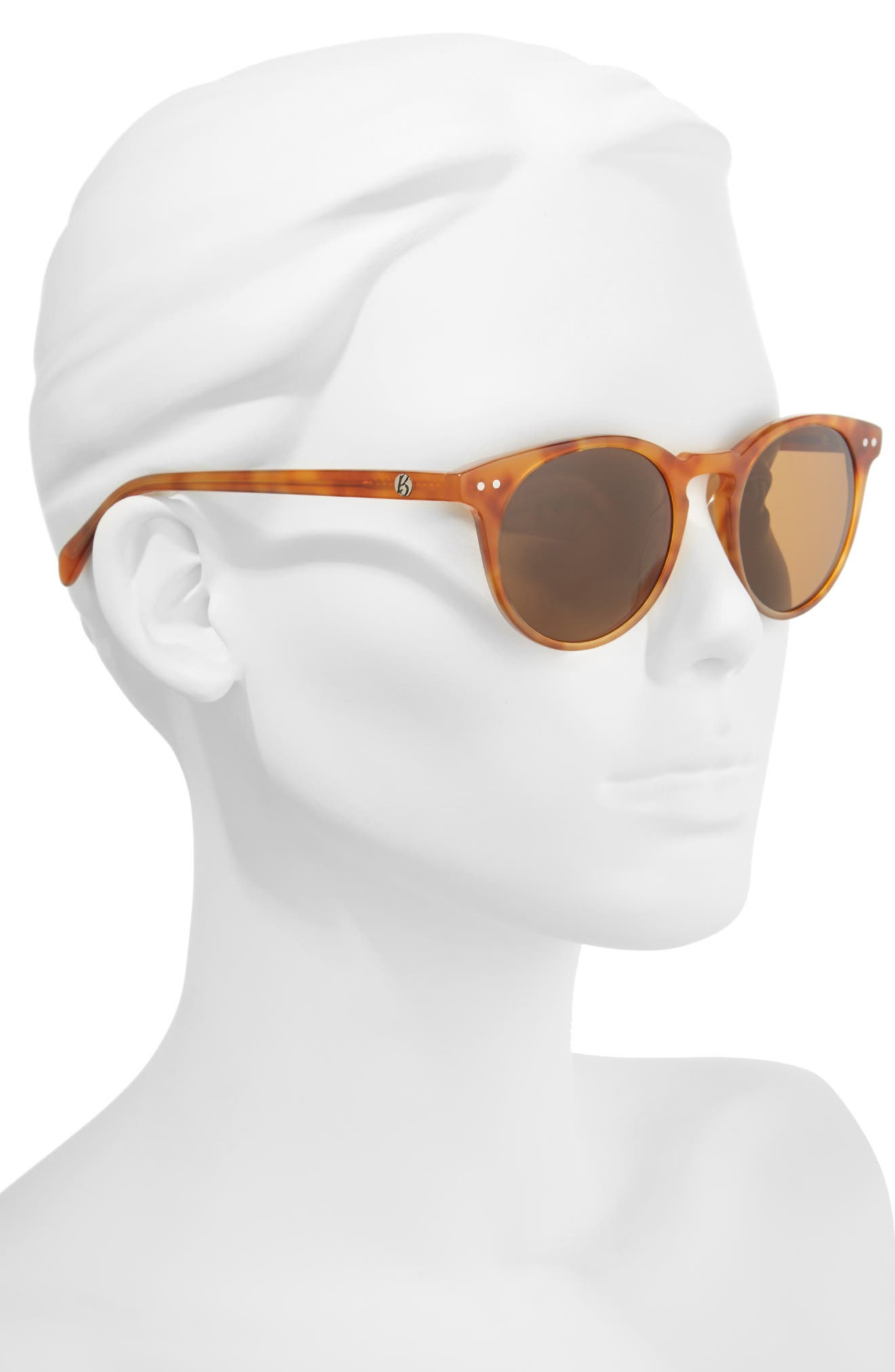 Oxford 49mm Sunglasses,                             Alternate thumbnail 2, color,                             Light Brown/ Brown
