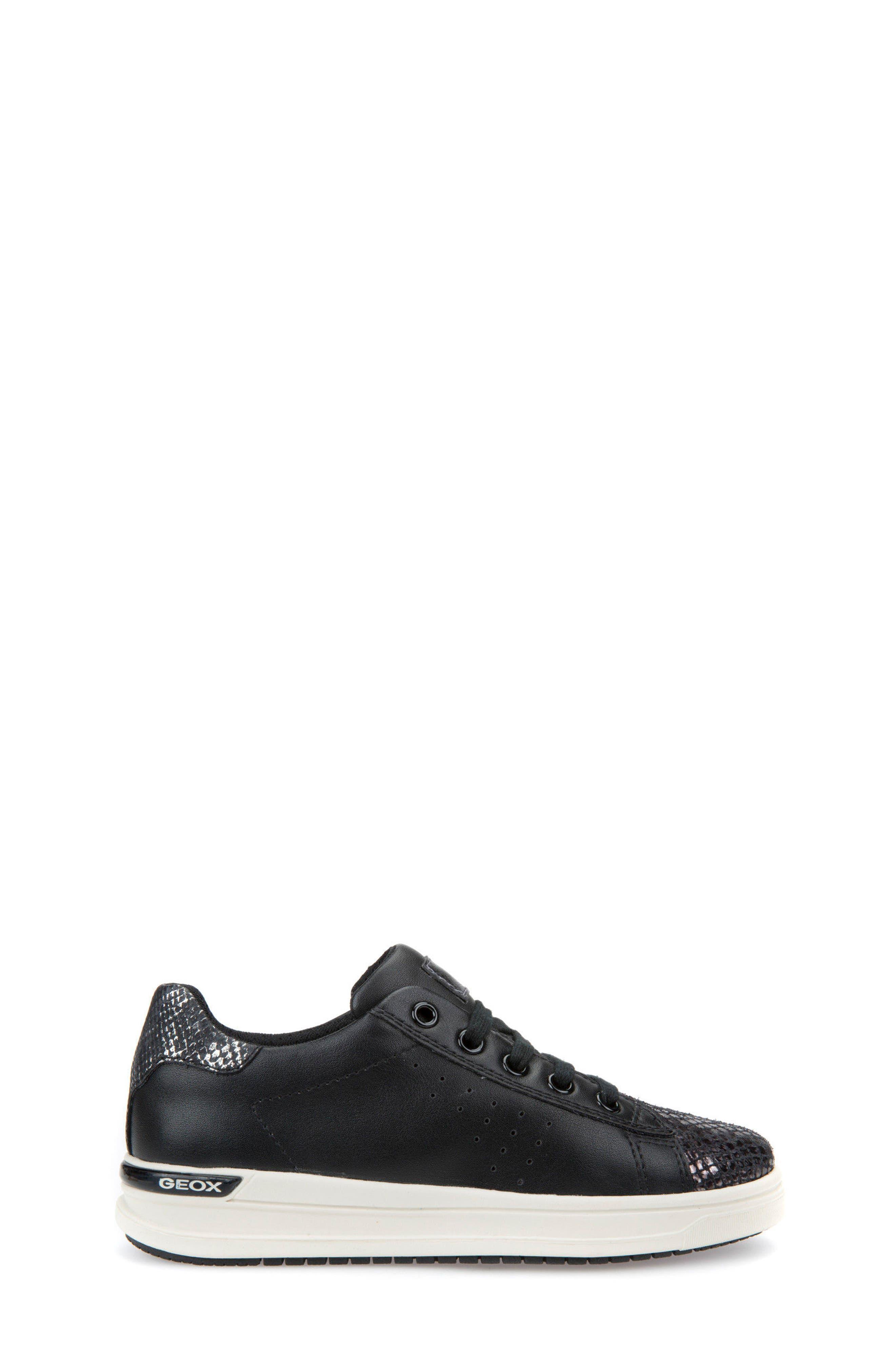 Cave Up Girl Low Top Sneaker,                             Alternate thumbnail 3, color,                             Black