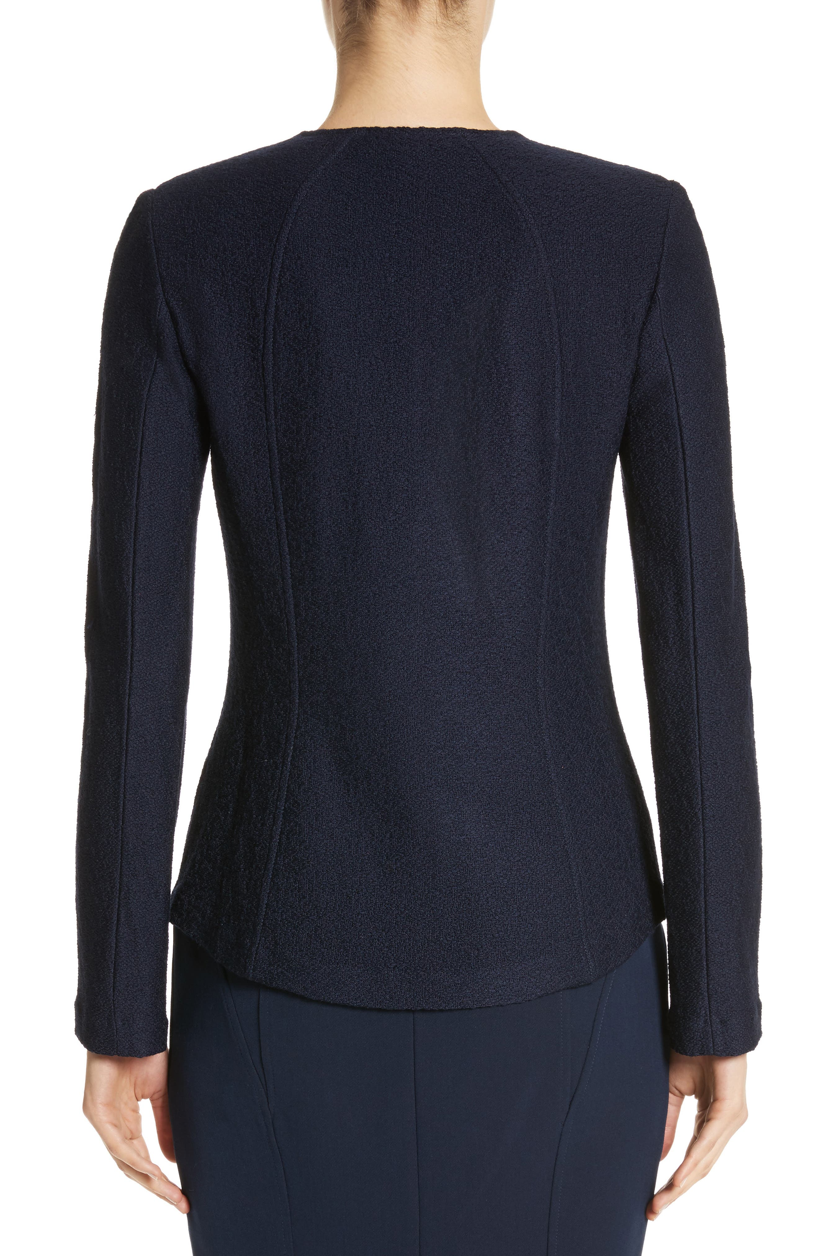 Hannah Knit Jacket,                             Alternate thumbnail 2, color,                             Navy