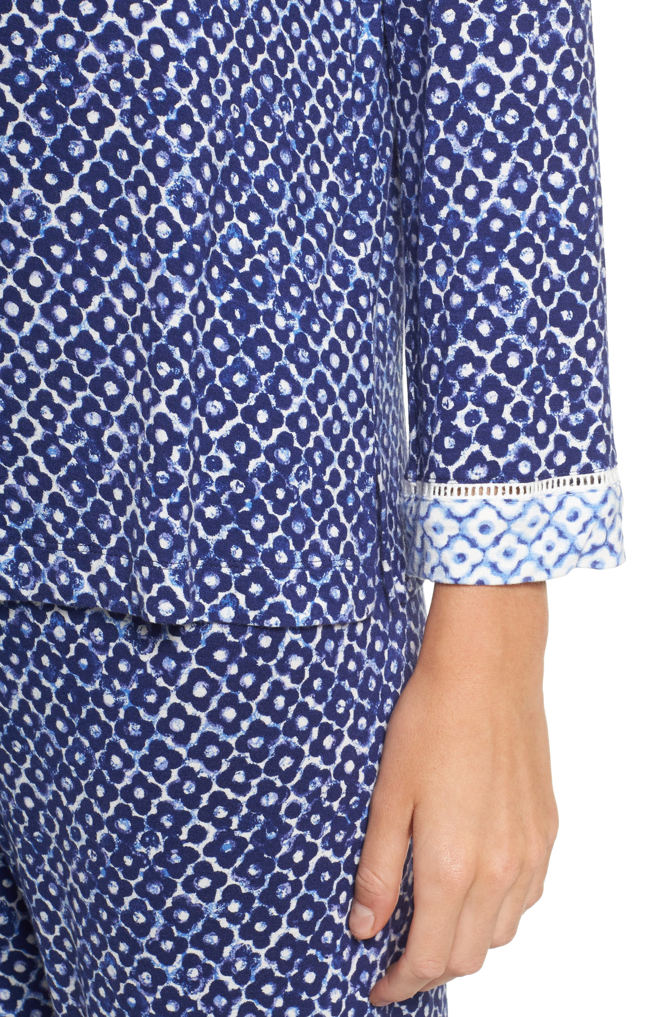 Sleepwear Pajamas,                             Alternate thumbnail 5, color,                             Navy Clover Geo Print