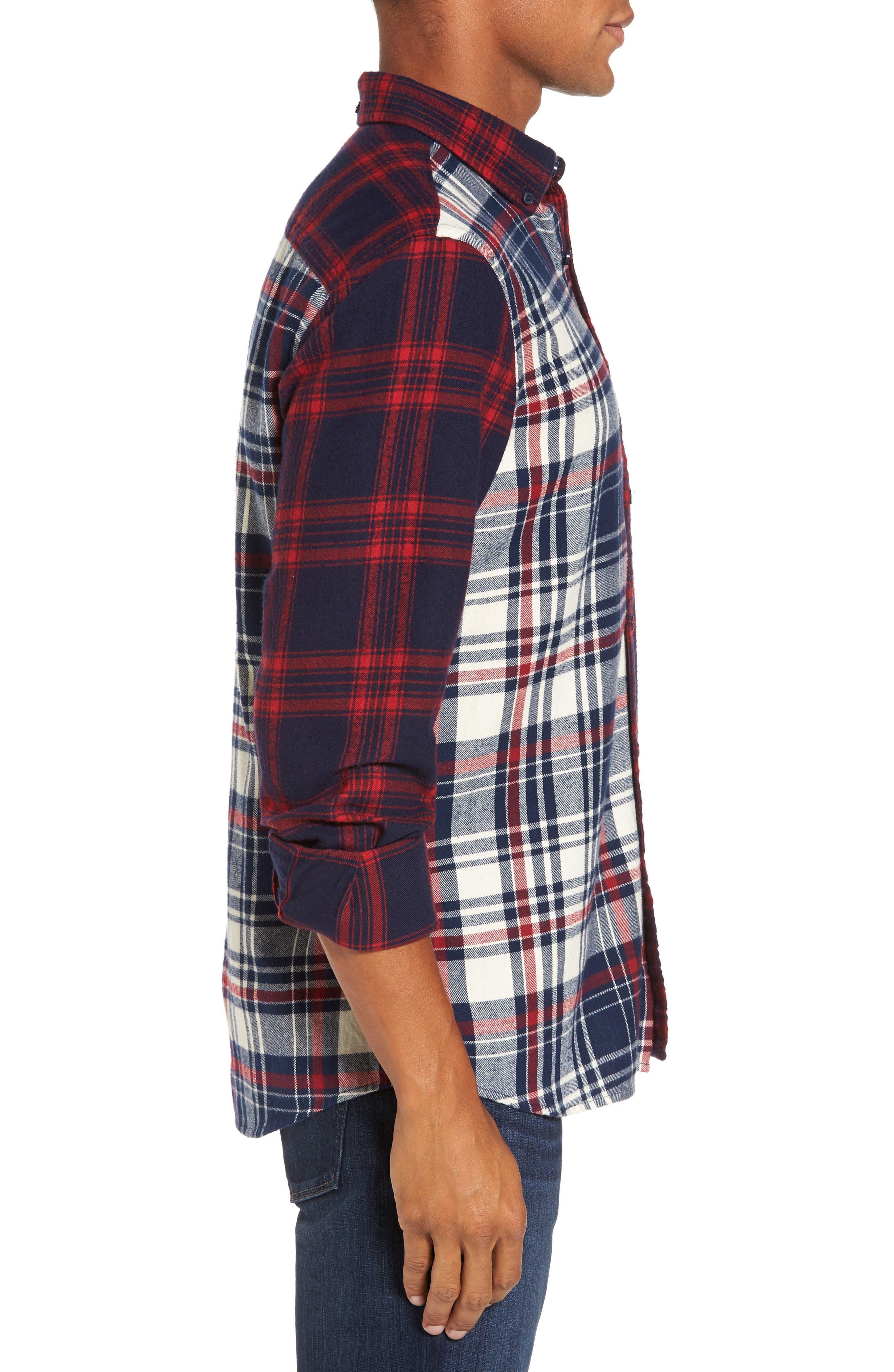 Alternate Image 3  - Nordstrom Men's Shop Trim Fit Patchwork Sport Shirt