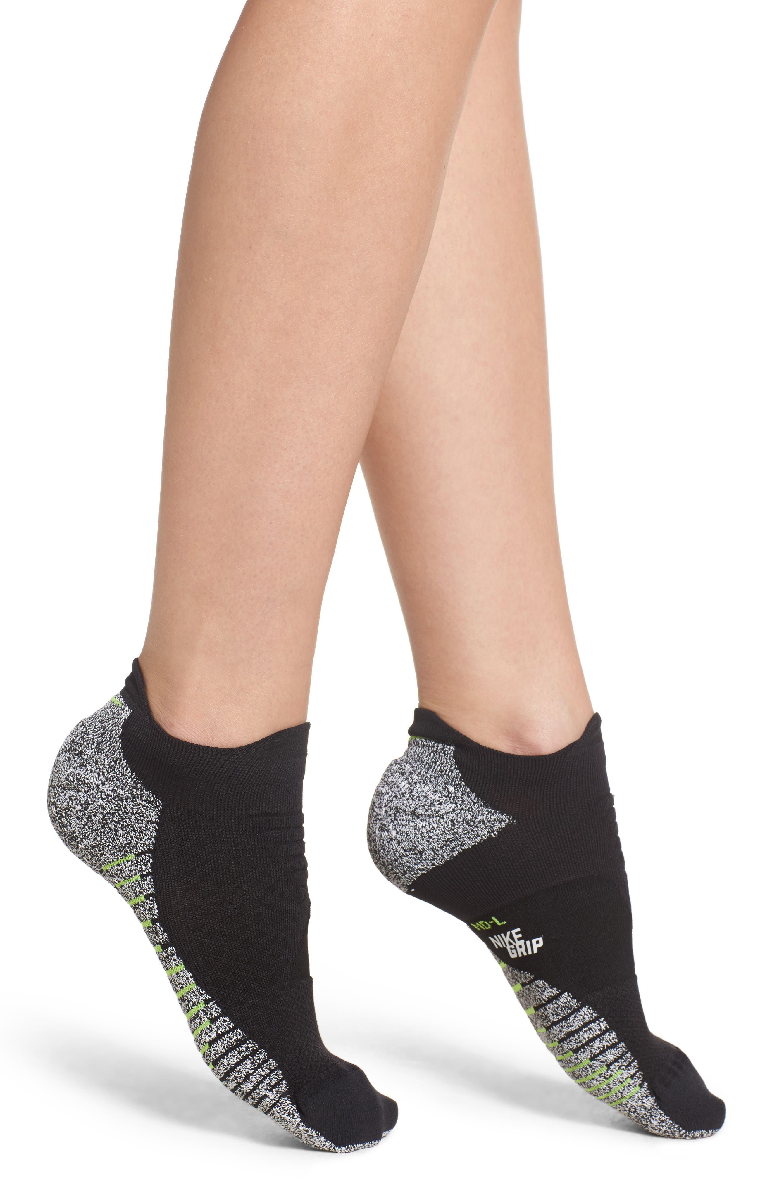 NikeGrip Low Cut Socks,                             Main thumbnail 1, color,                             Black