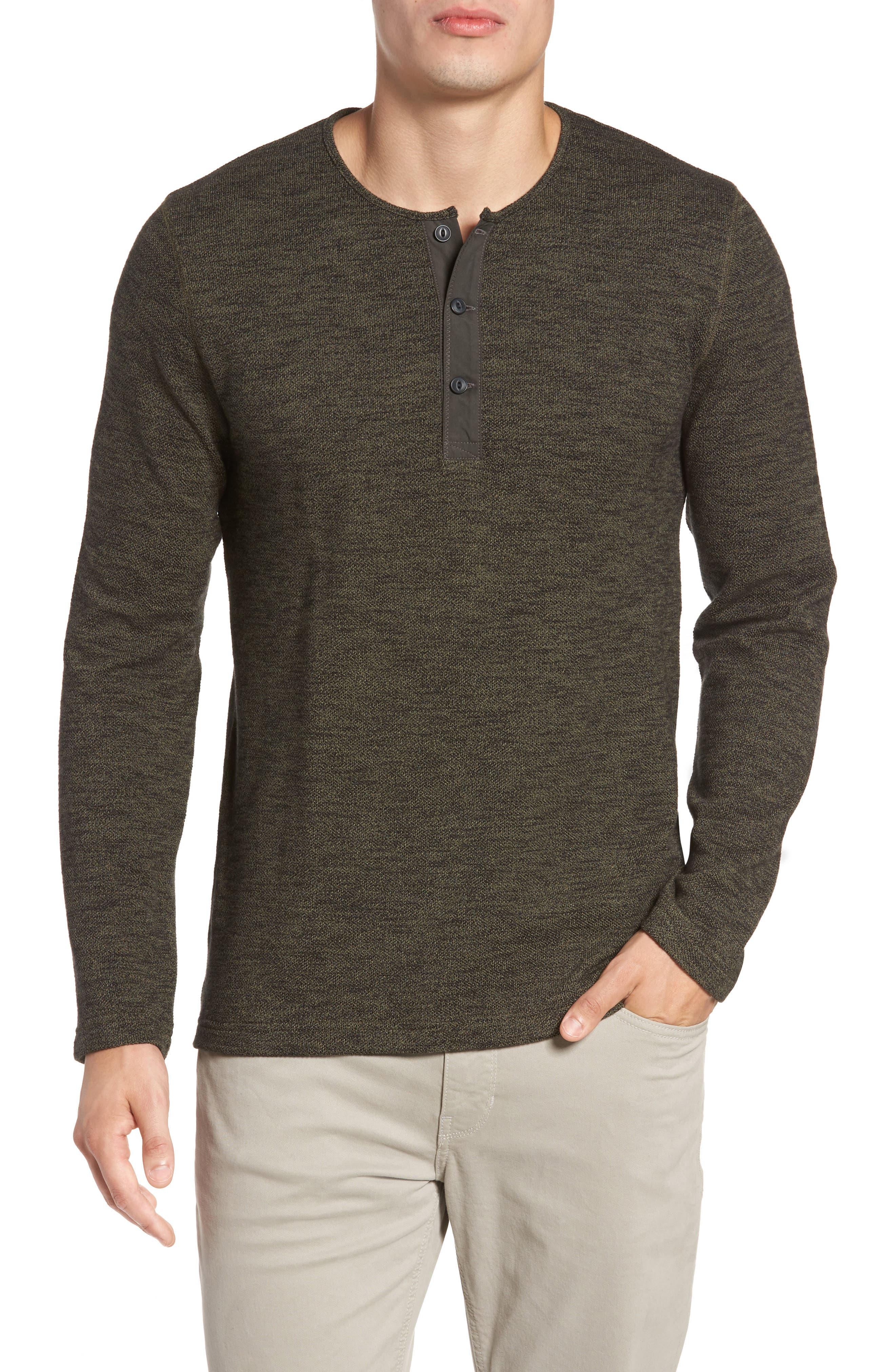 Nordstrom Men's Shop Hacci Knit Henley (Tall)