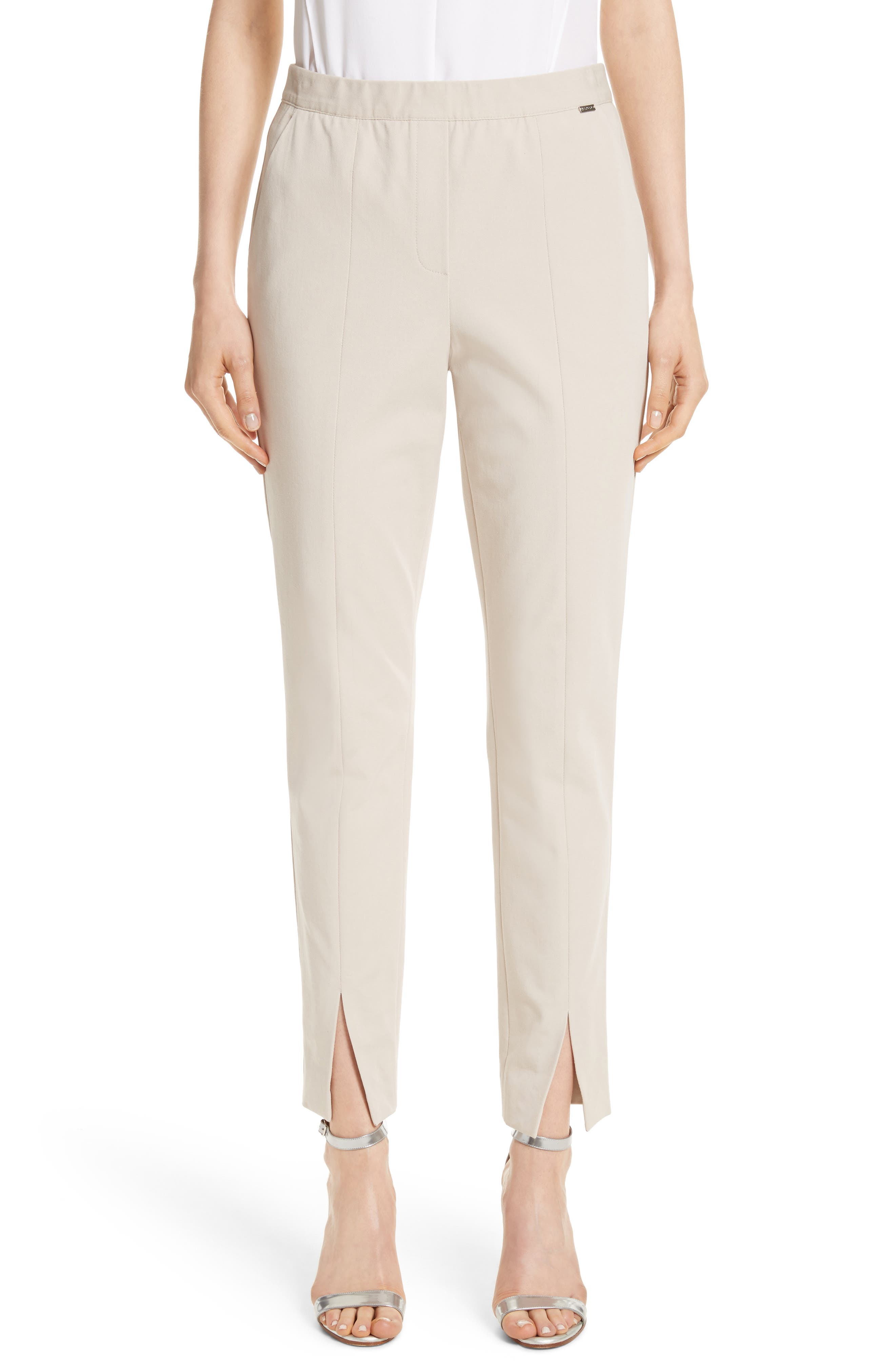 Alternate Image 1 Selected - St. John Collection Fine Stretch Twill Pants