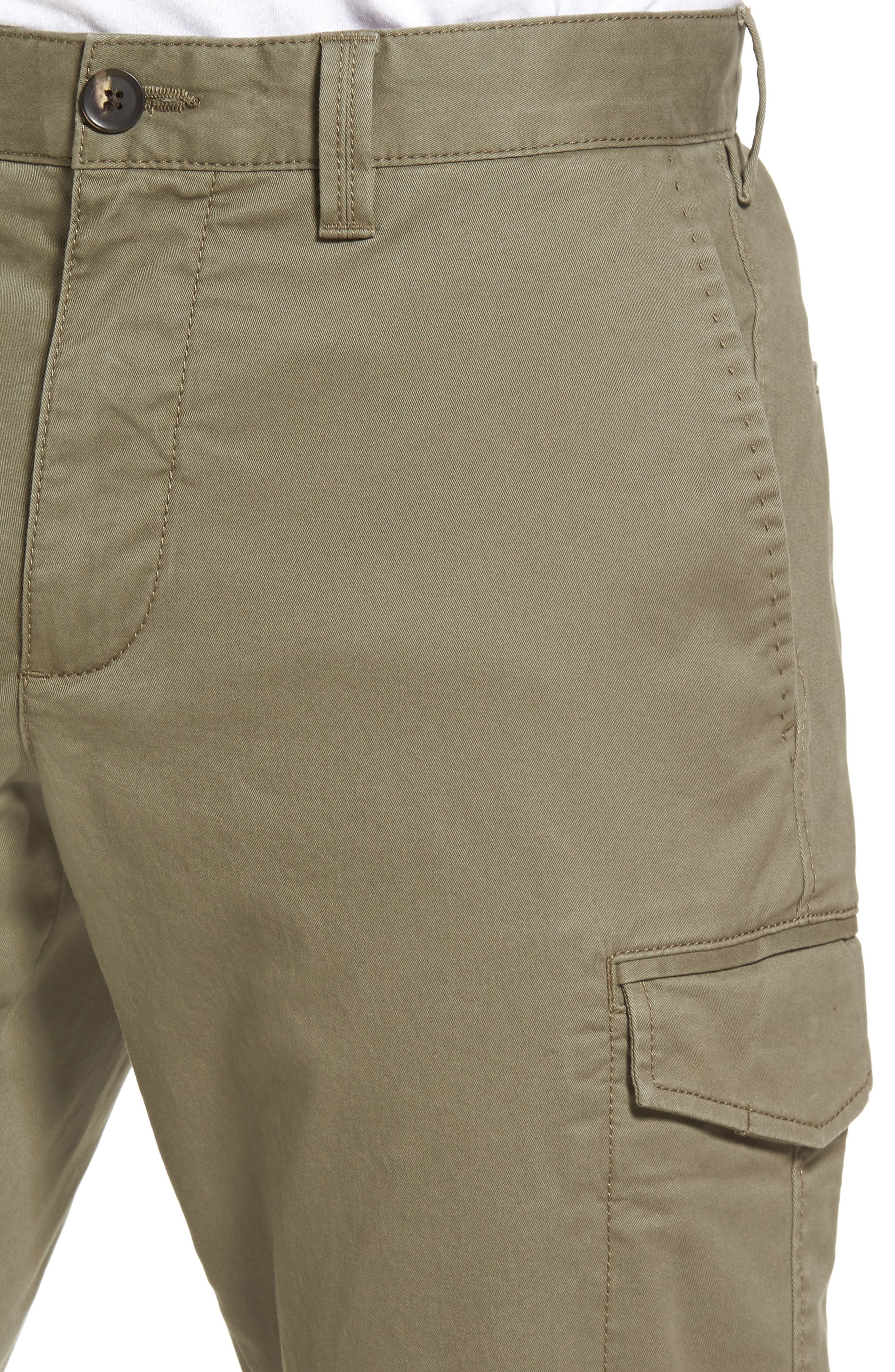 Regular Fit Cargo Pants,                             Alternate thumbnail 4, color,                             Olive Grove
