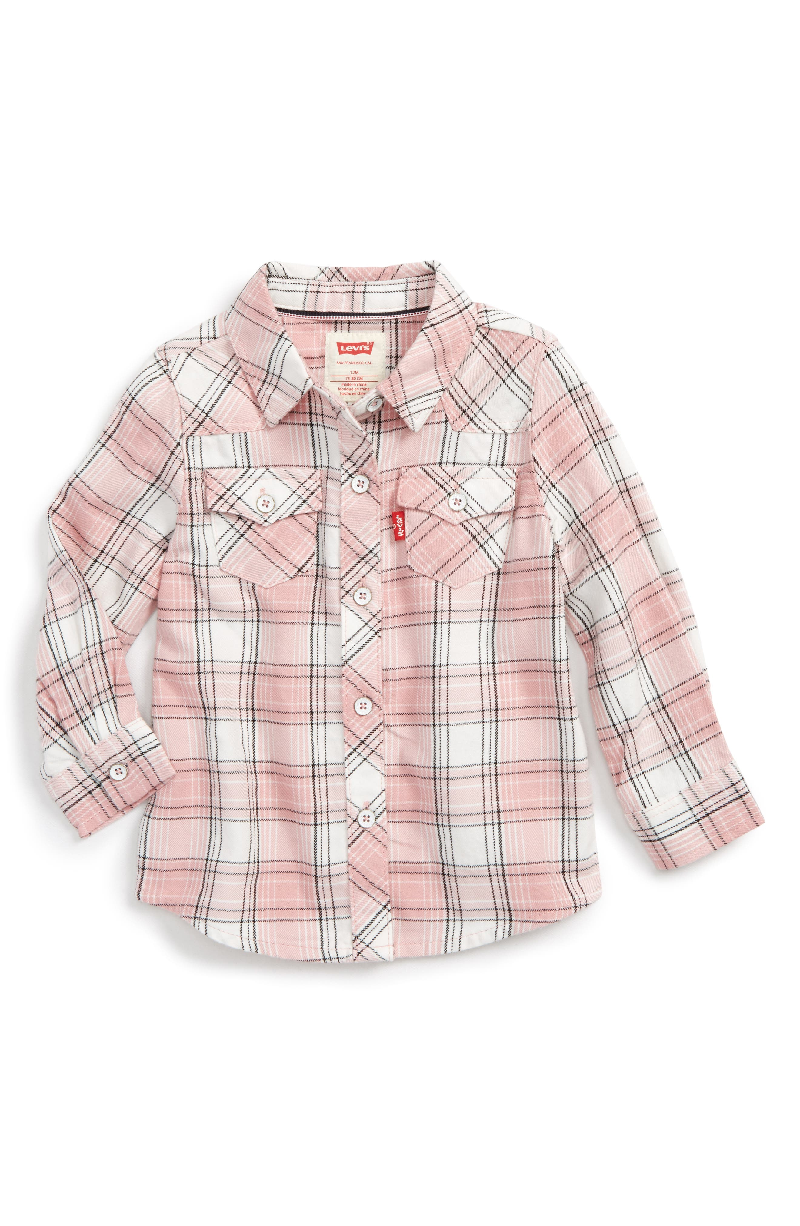 Levi's® The Western Plaid Shirt (Baby Girls)
