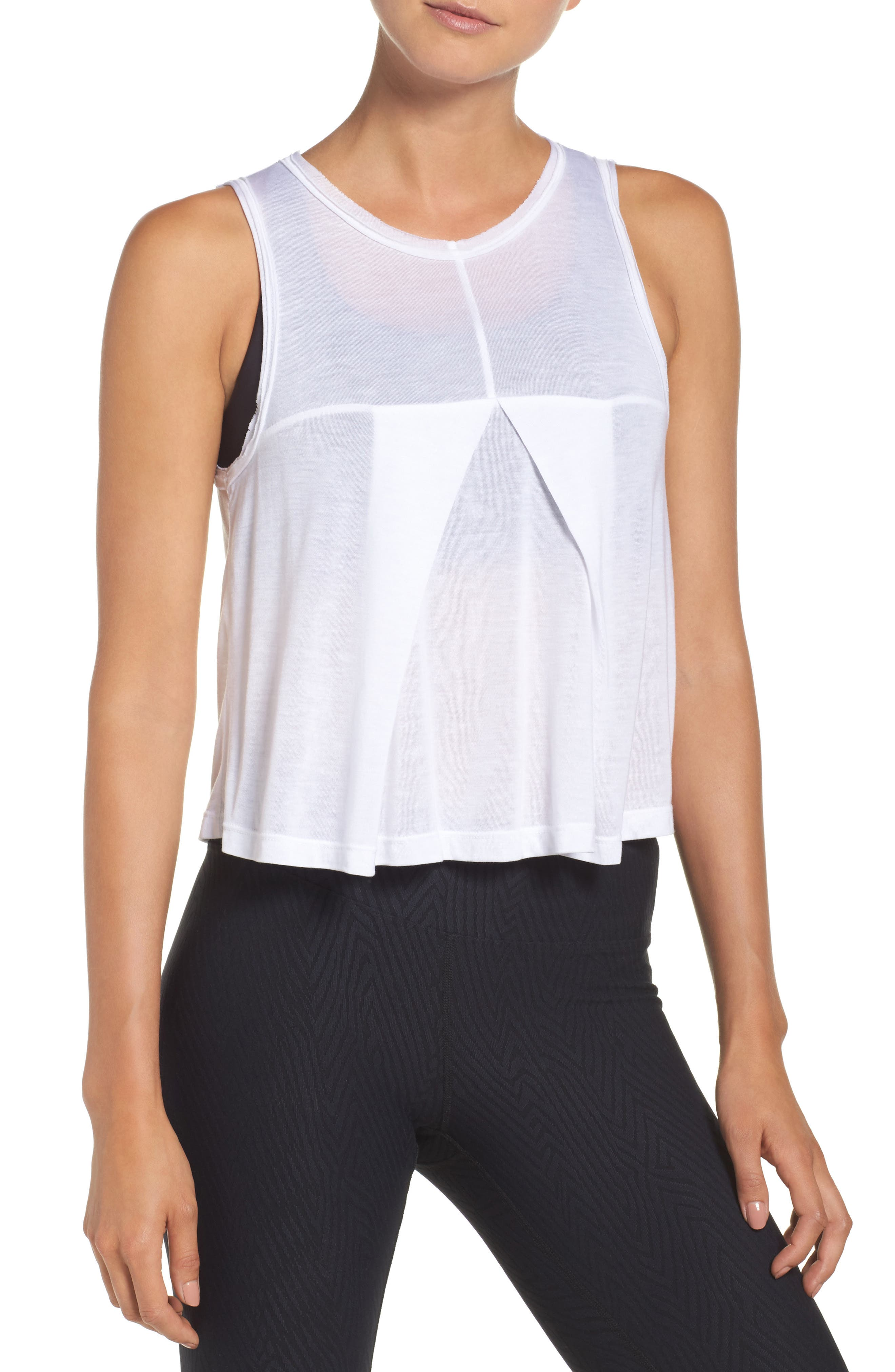 Stack Crop Top,                         Main,                         color, White