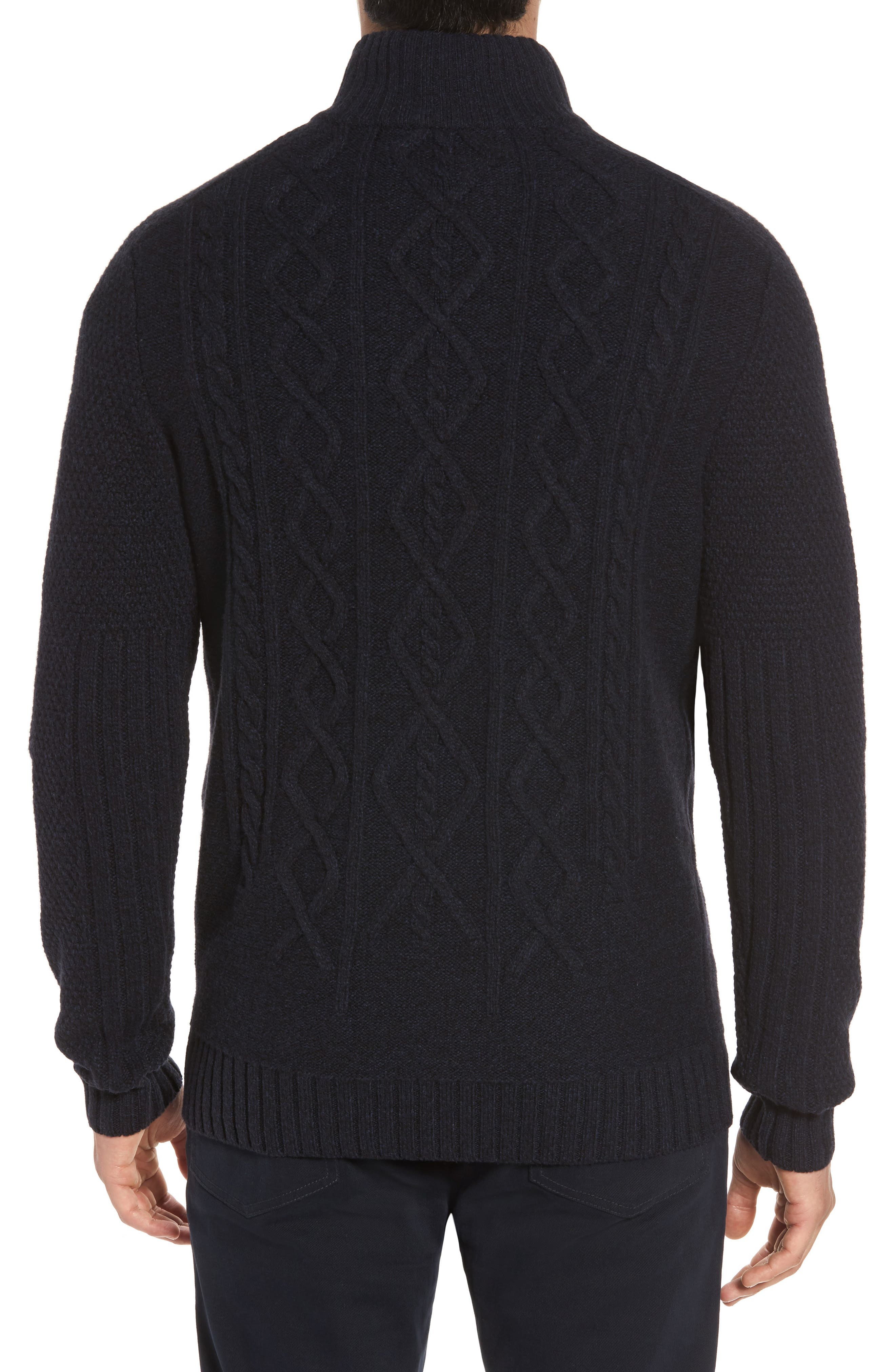 Cape Scoresby Wool Sweater,                             Alternate thumbnail 2, color,                             Navy