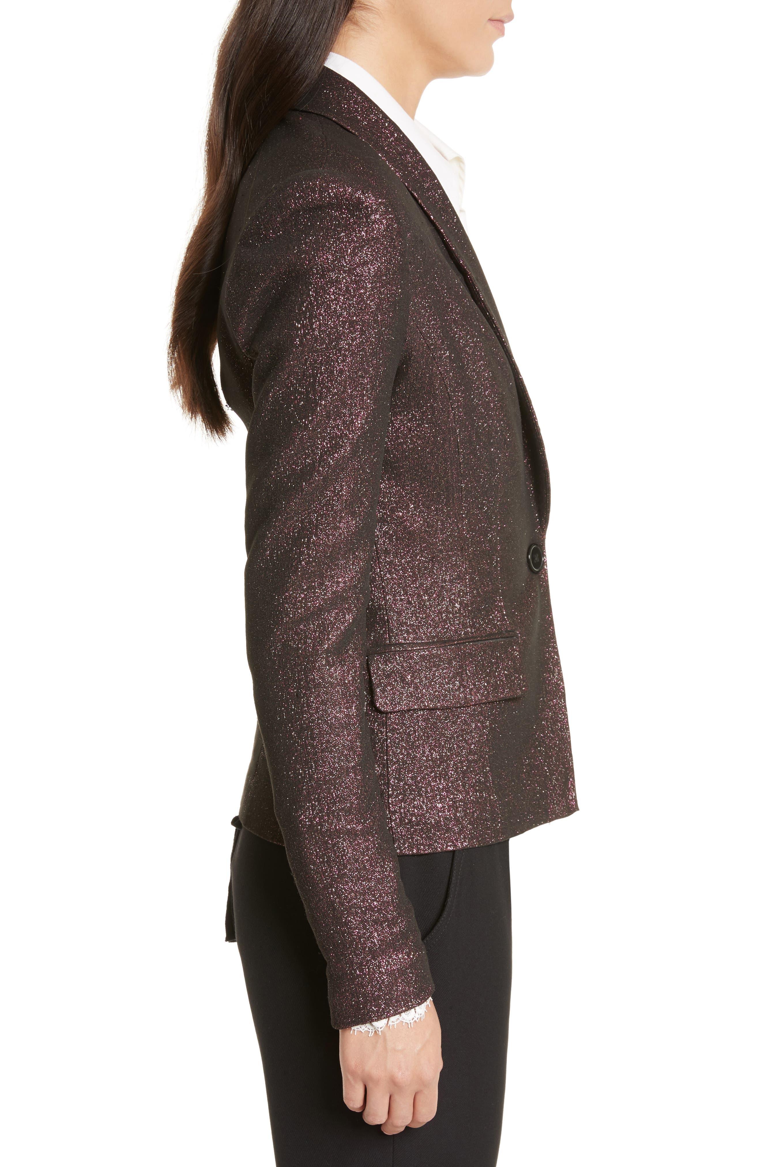 Alternate Image 4  - Tracy Reese Metallic Shawl Blazer