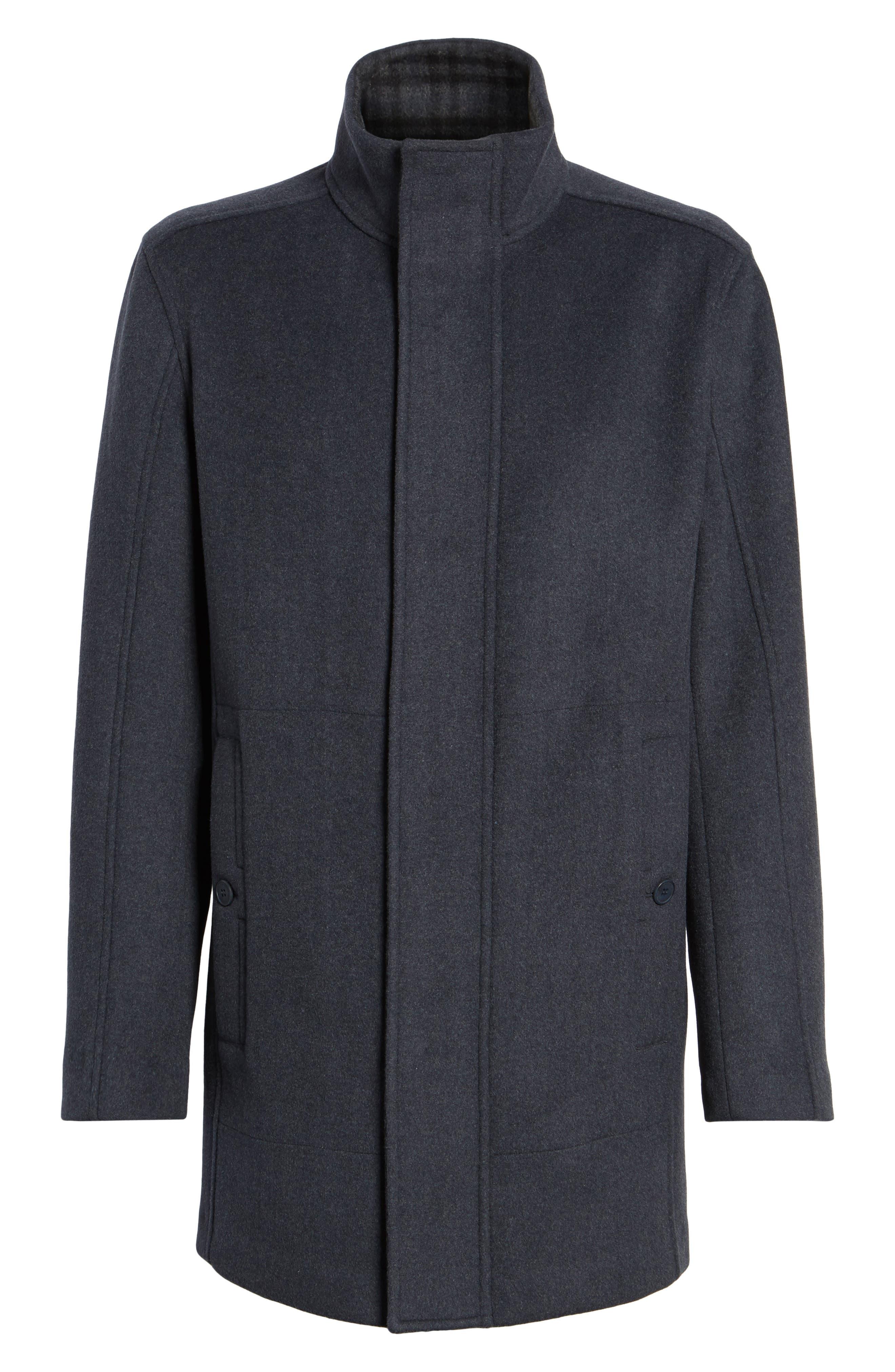Alternate Image 5  - Marc New York Double Face Wool Blend Car Coat