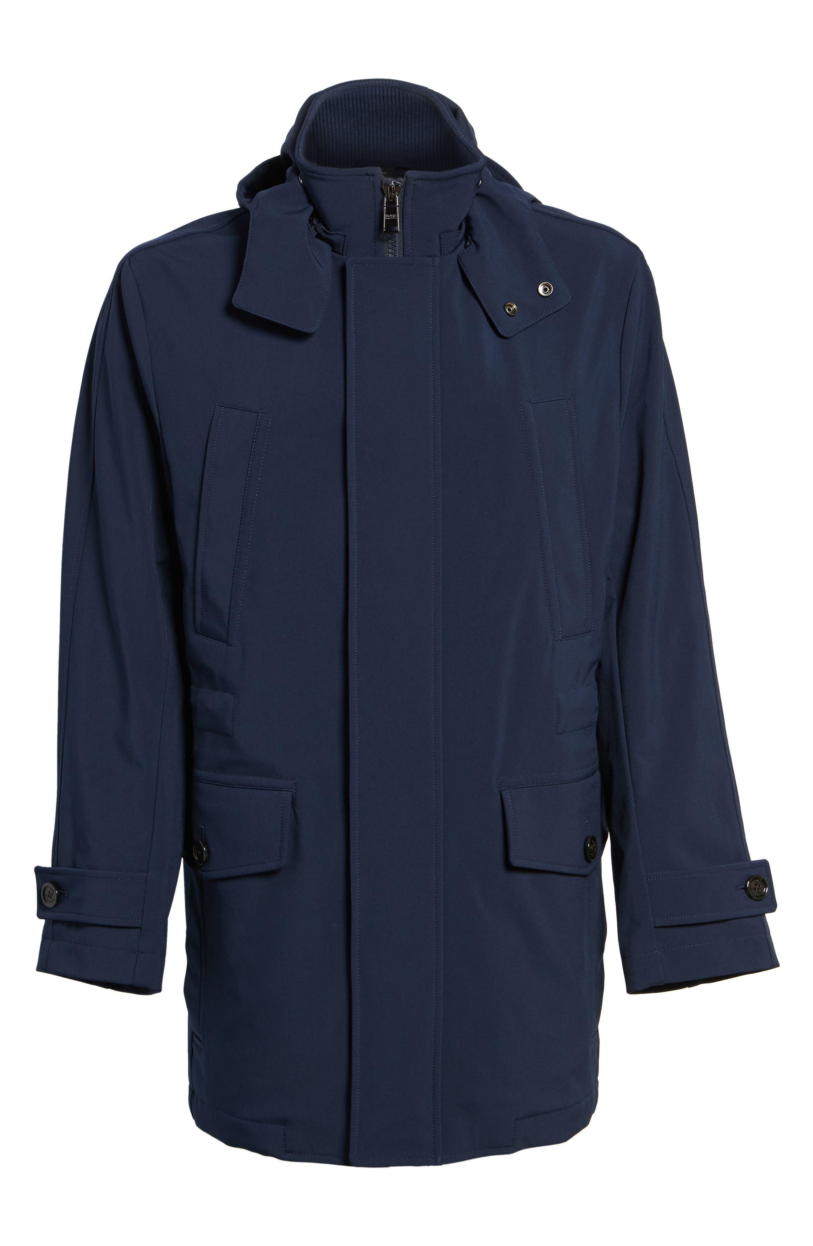 Technical Longline Jacket,                             Alternate thumbnail 5, color,                             Navy
