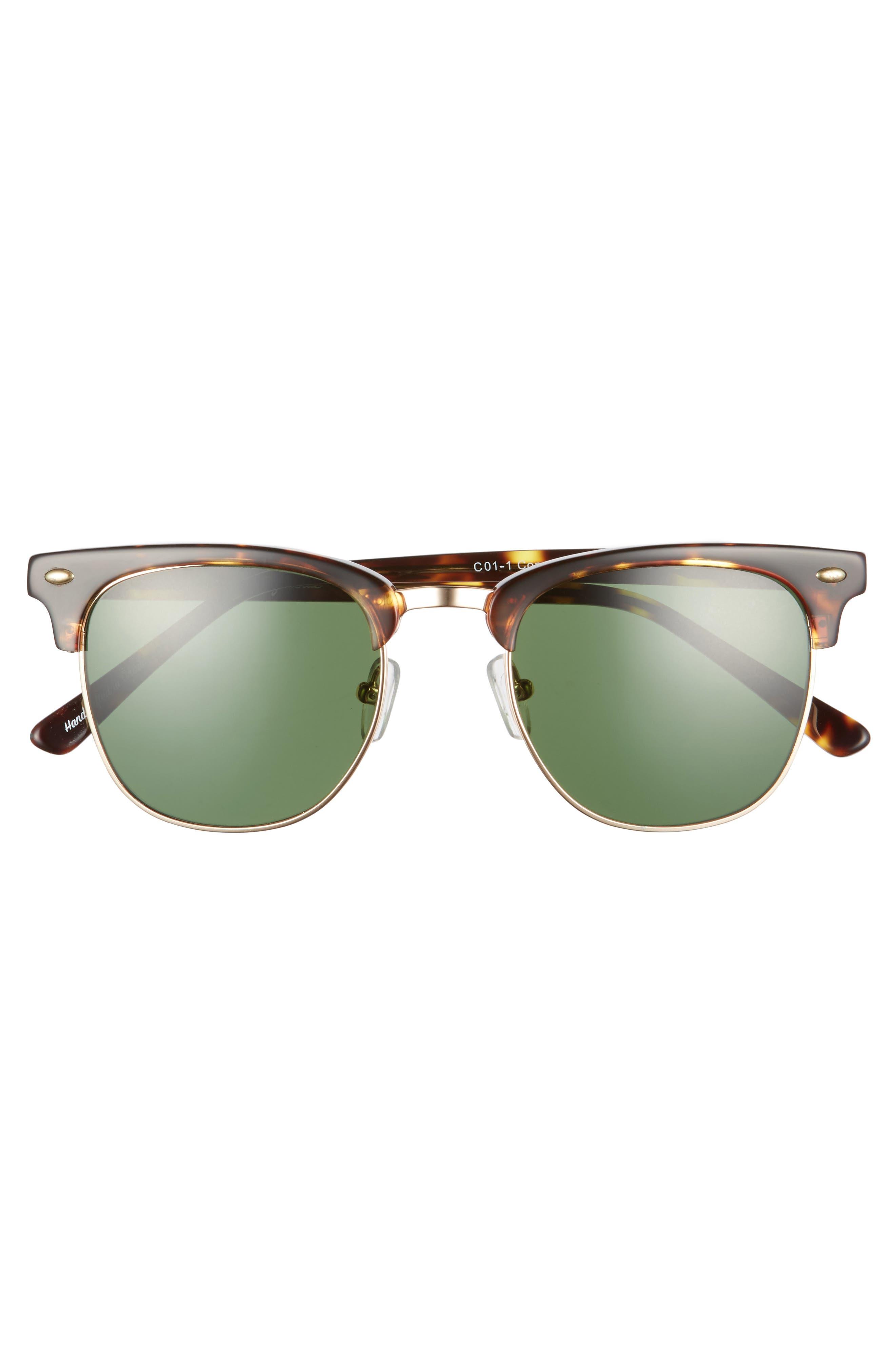 Copeland 51mm Sunglasses,                             Alternate thumbnail 3, color,                             Golden Tortoise/ Green