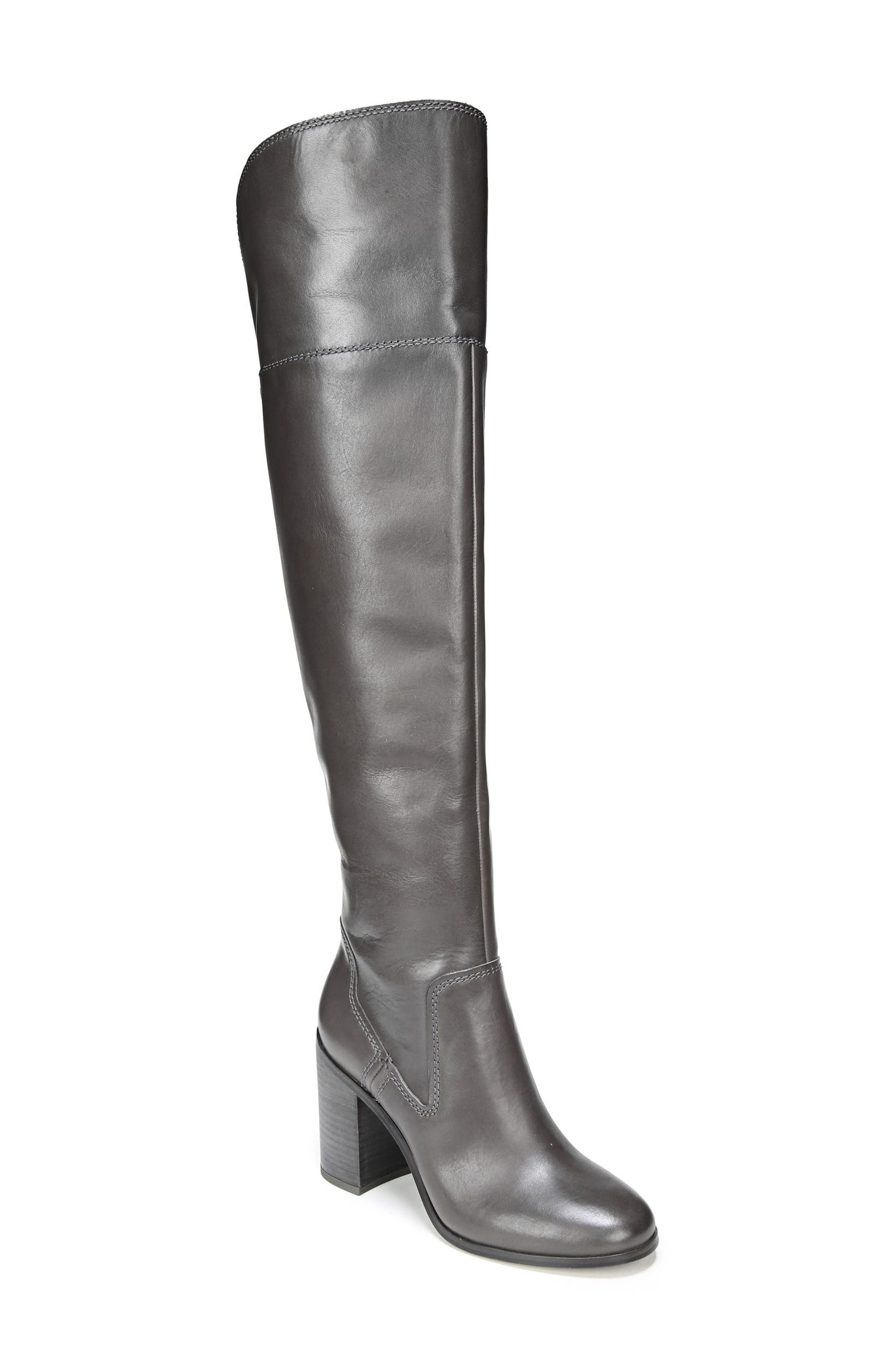Freda Over the Knee Boot,                             Main thumbnail 1, color,                             Peat Leather