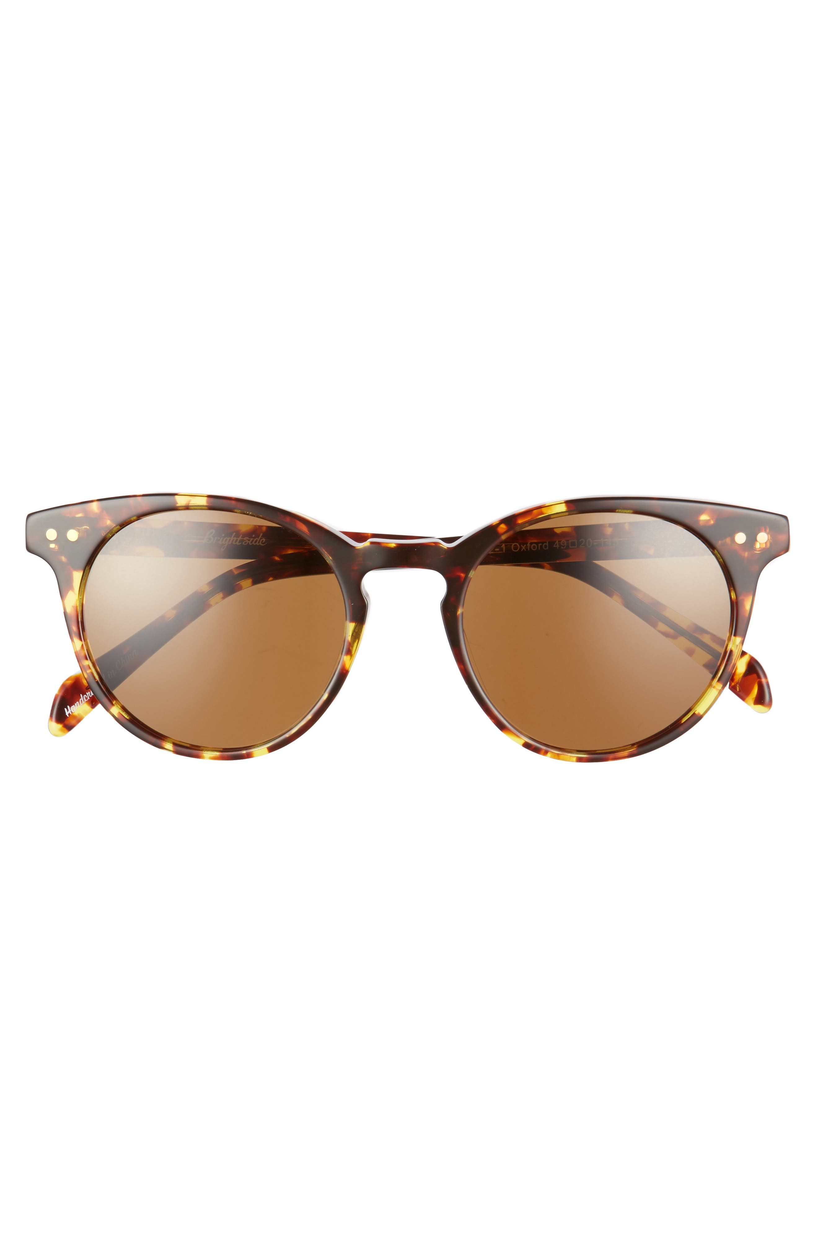 Oxford 49mm Sunglasses,                             Alternate thumbnail 3, color,                             Classic Tortoise/ Brown
