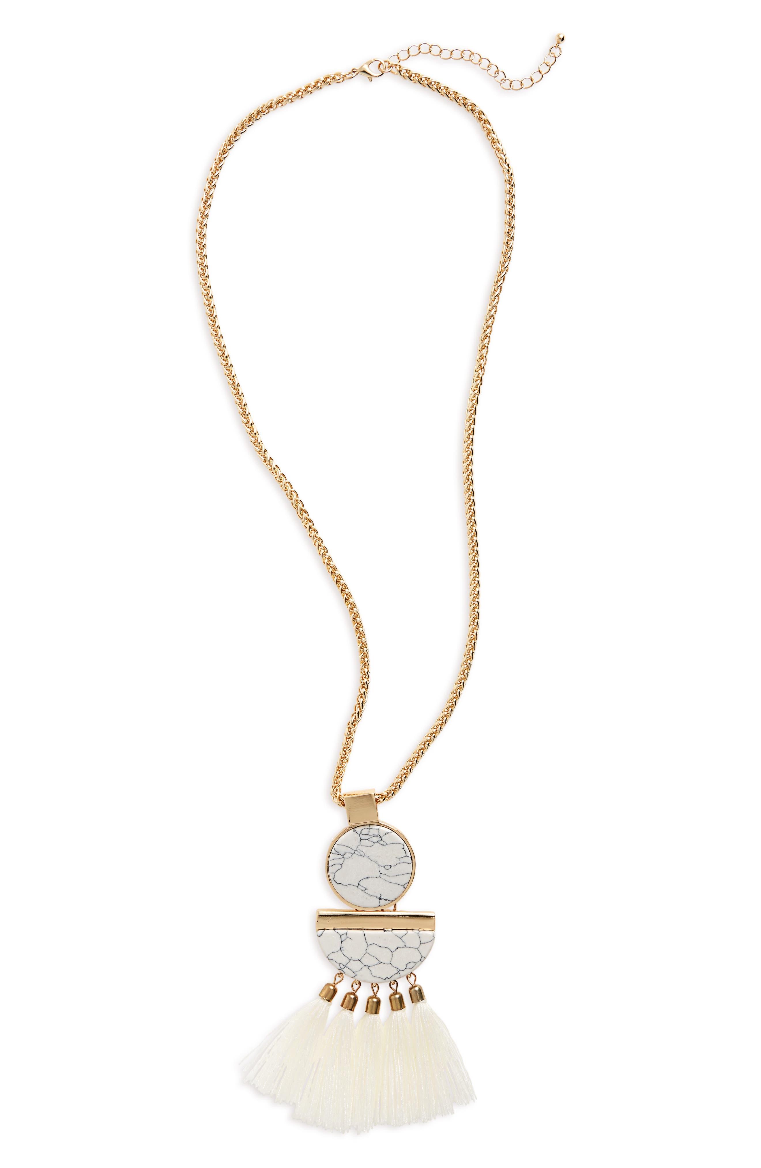 CARA Tassel Pendant Necklace