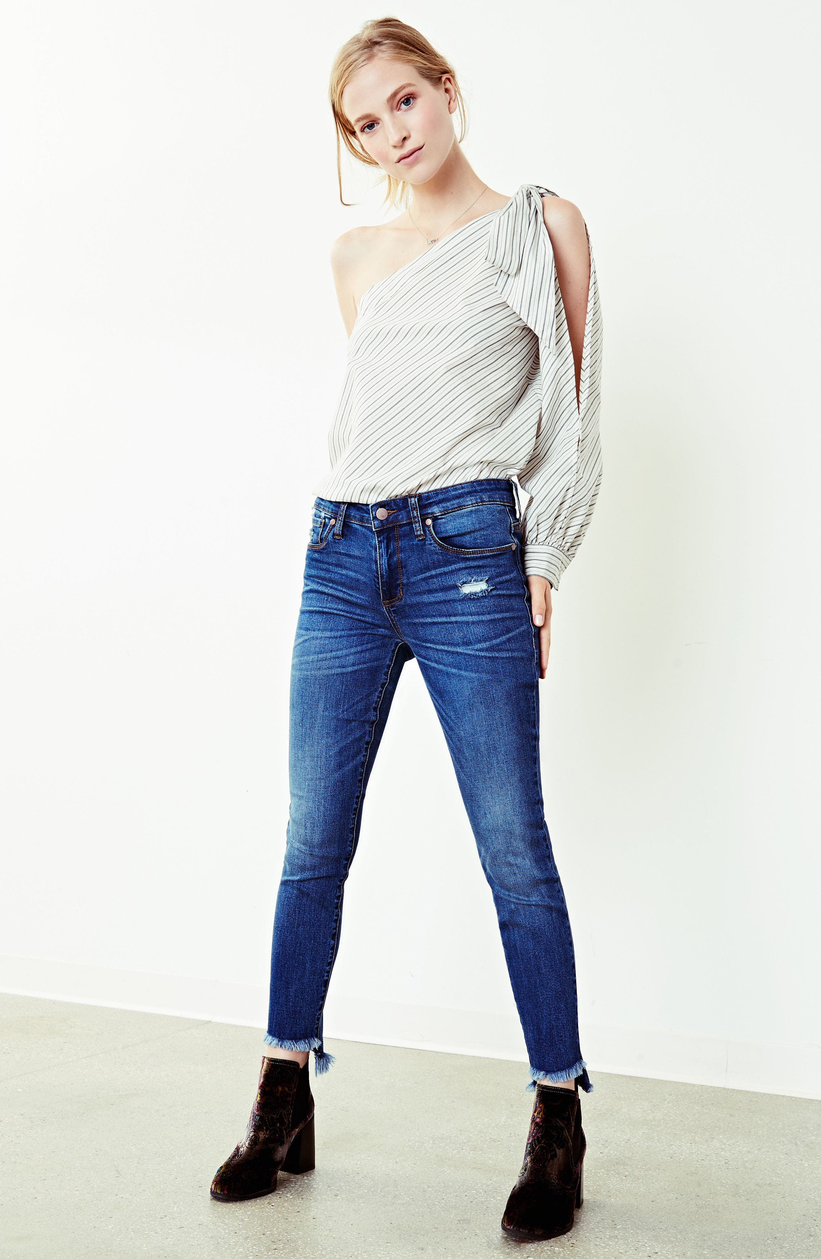 Alternate Image 9  - BP. Patch Detail Step Hem Skinny Jeans