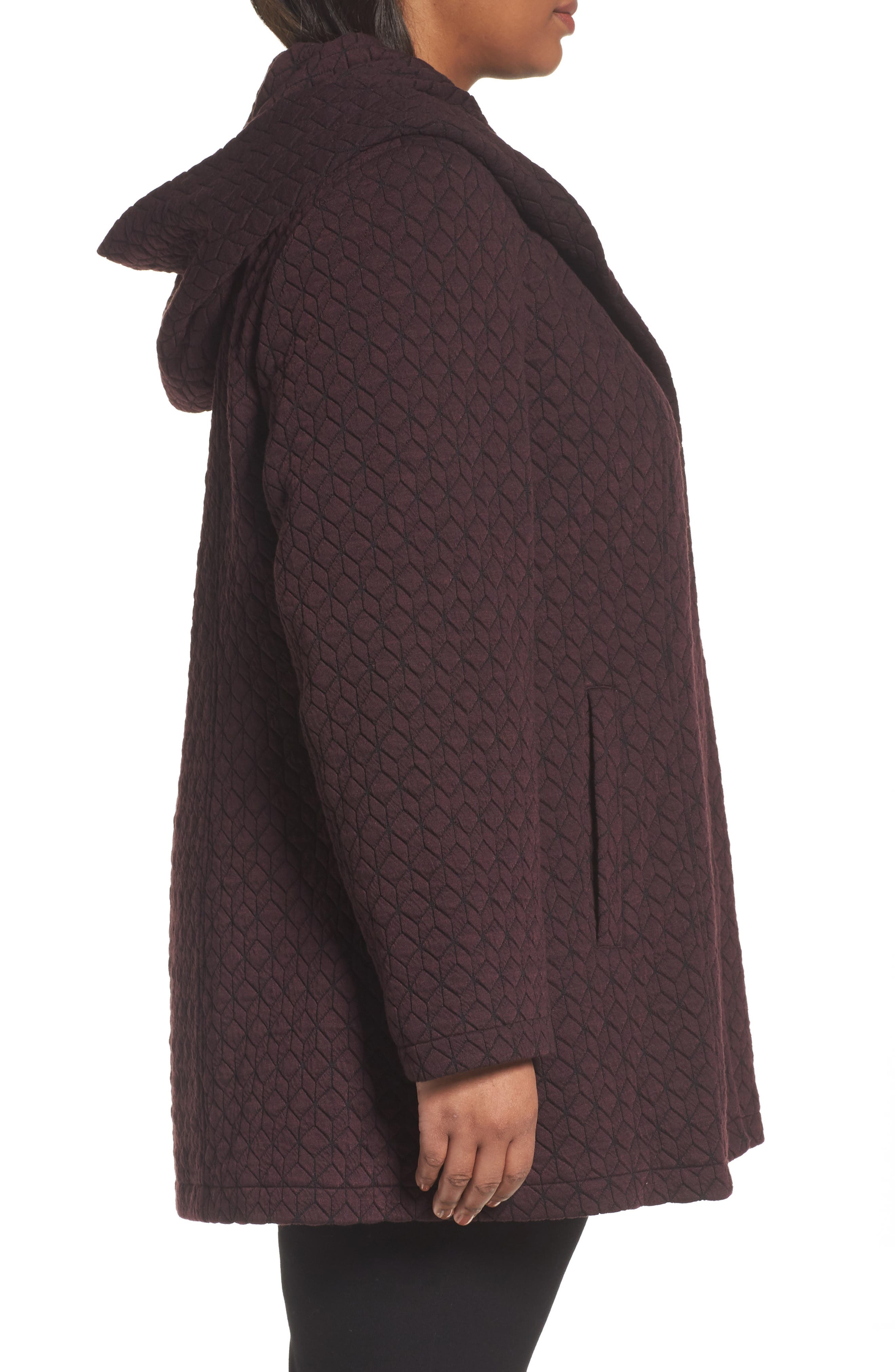 Alternate Image 3  - Gallery Cozy Knit Coat (Plus Size)