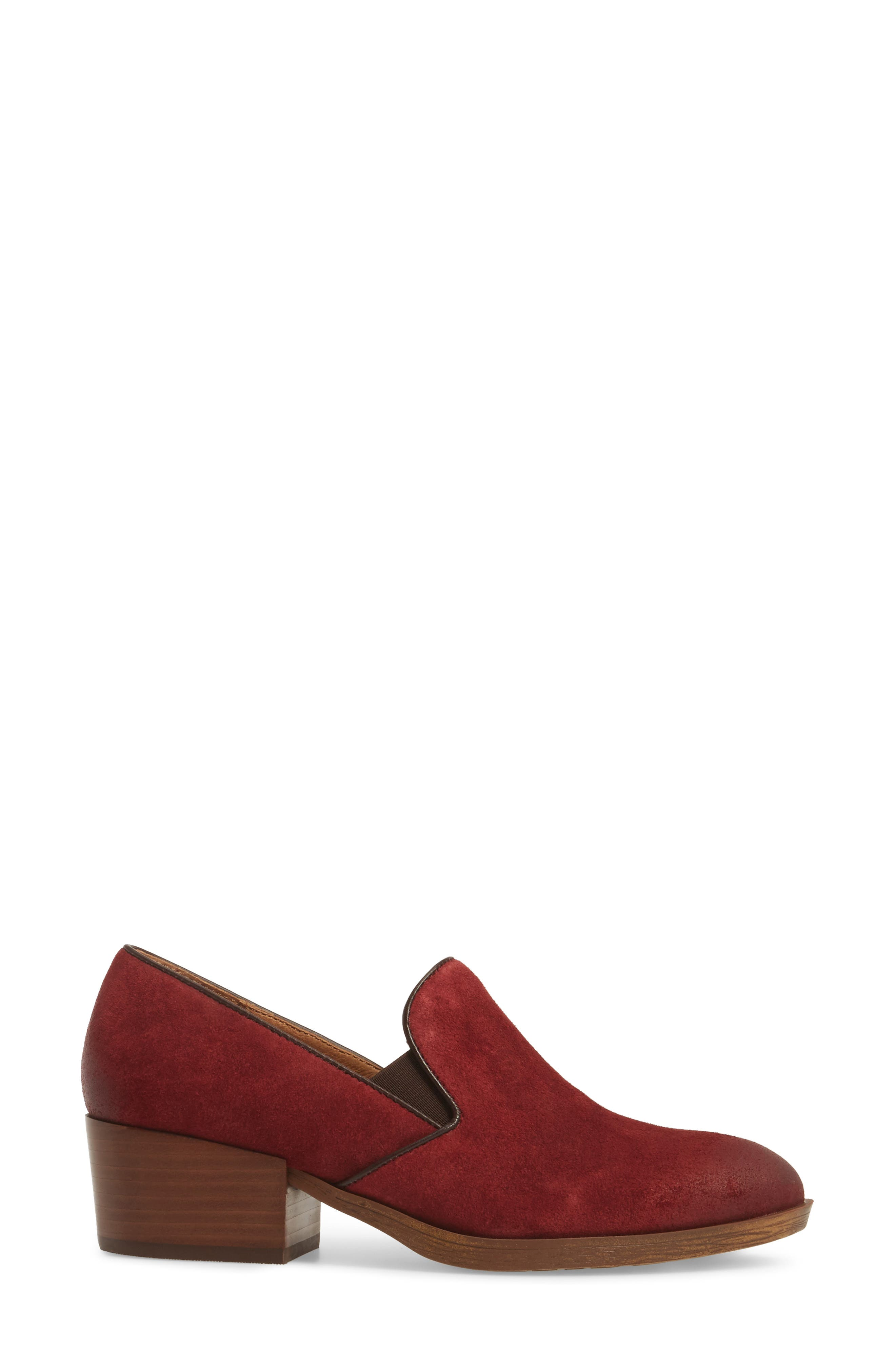 Velina Pump,                             Alternate thumbnail 3, color,                             Bordo Suede