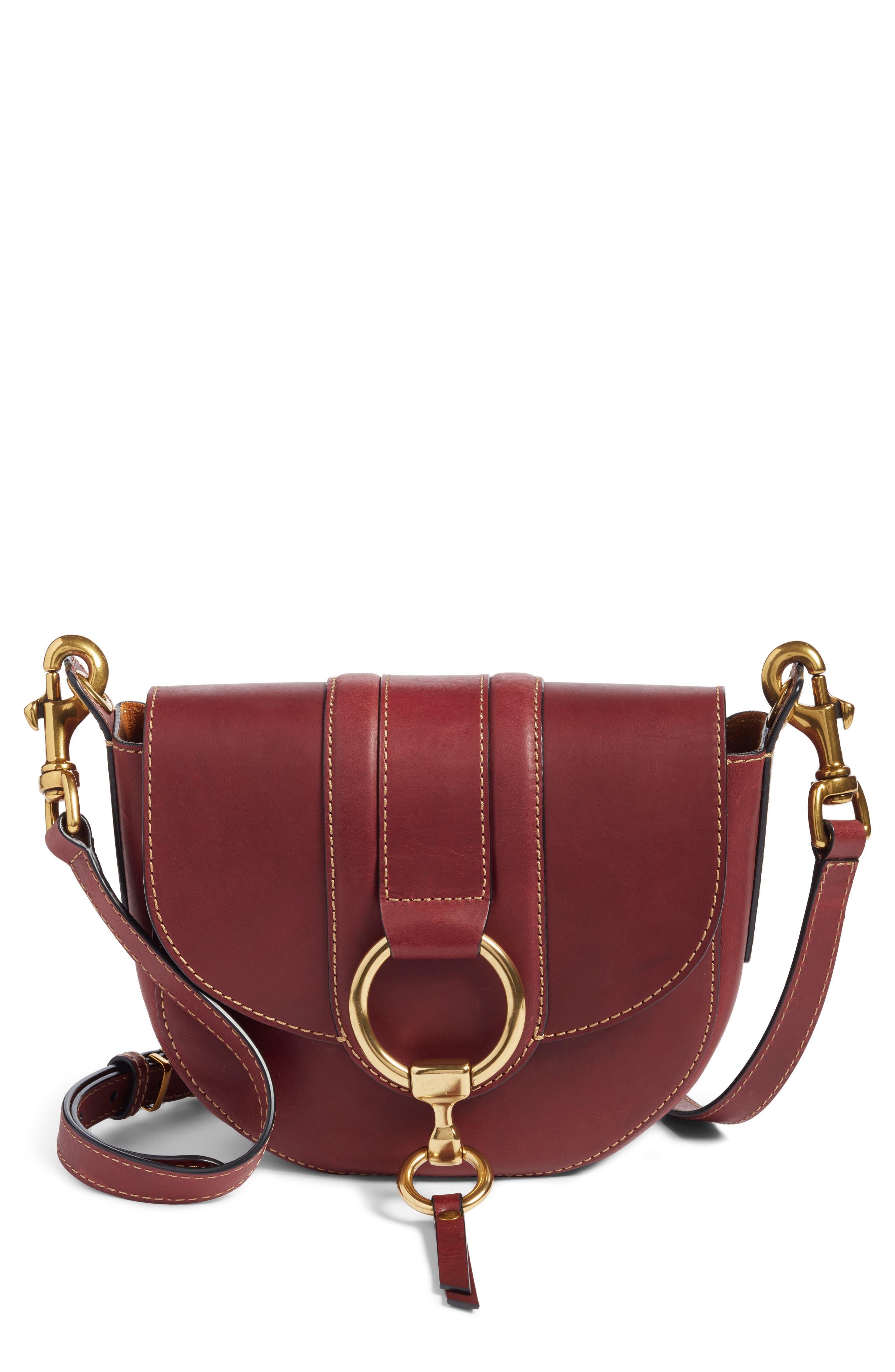 Alternate Image 1 Selected - Frye Small Ilana Harness Leather Saddle Bag