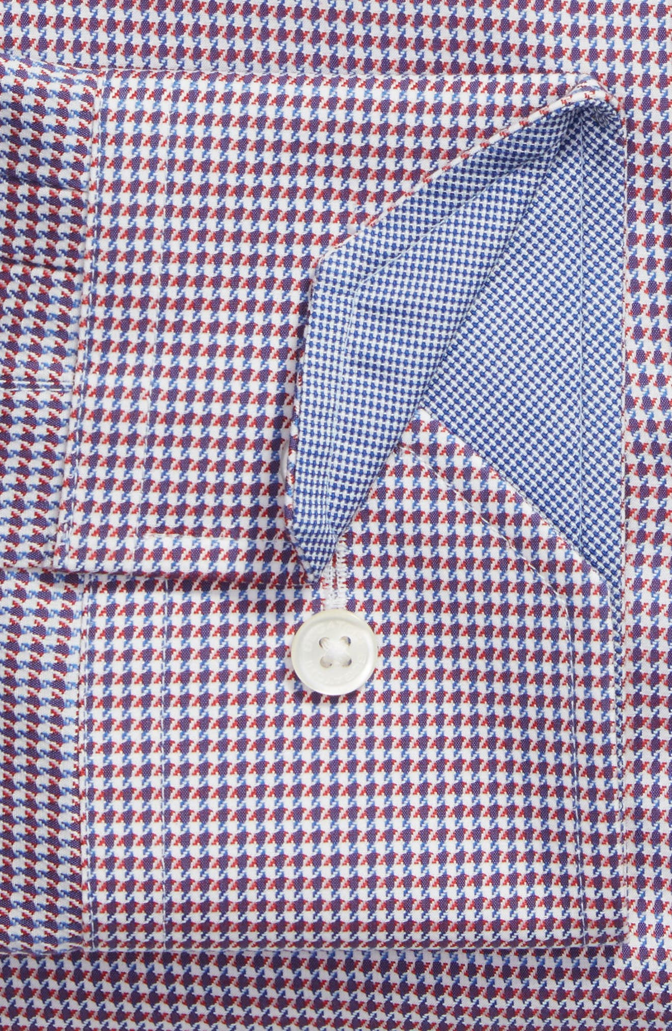 Alternate Image 2  - Bugatchi Trim Fit Houndstooth Dress Shirt