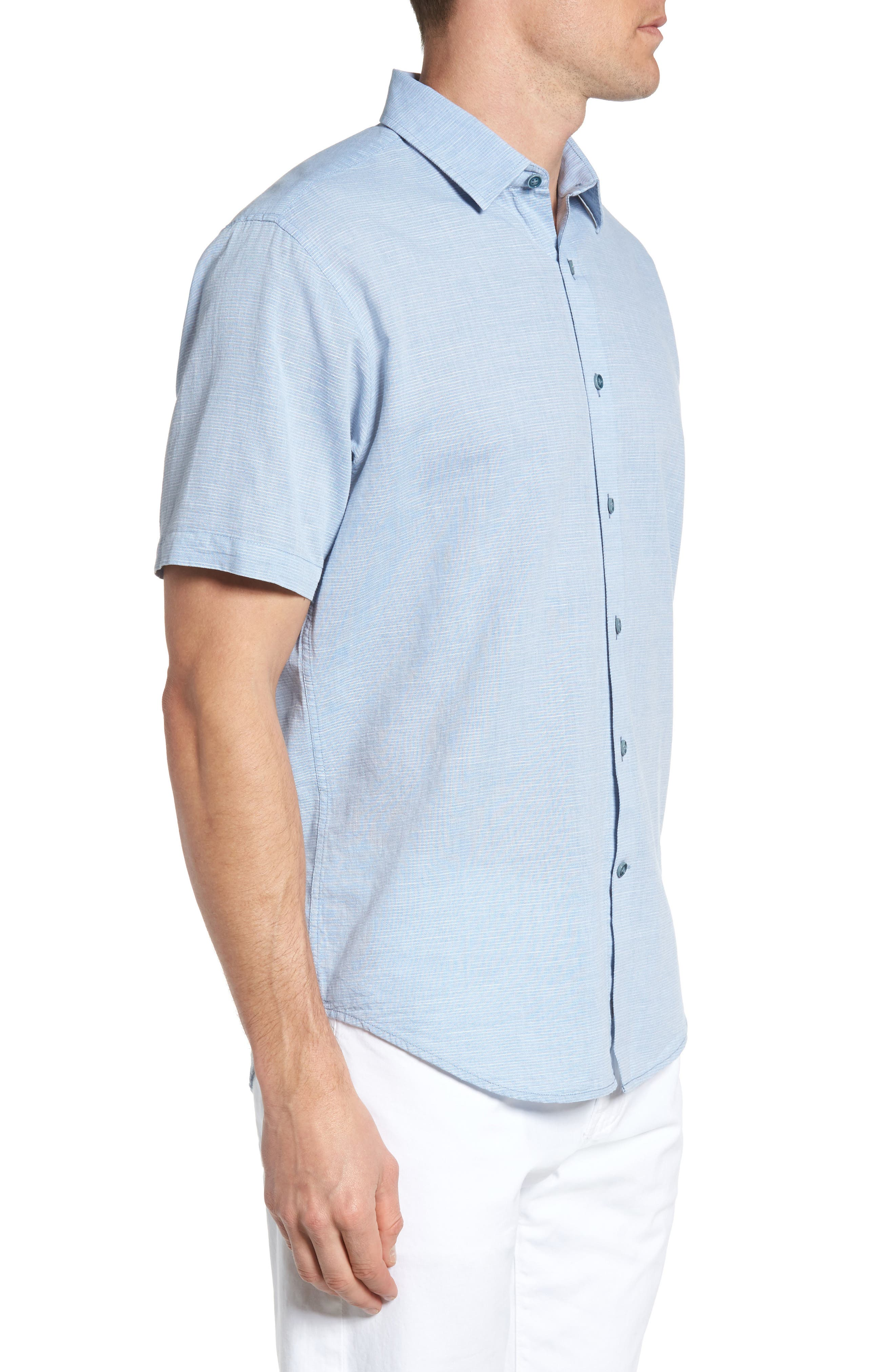 Alternate Image 3  - James Campbell 'Ellerbe' Regular Fit Short Sleeve Sport Shirt
