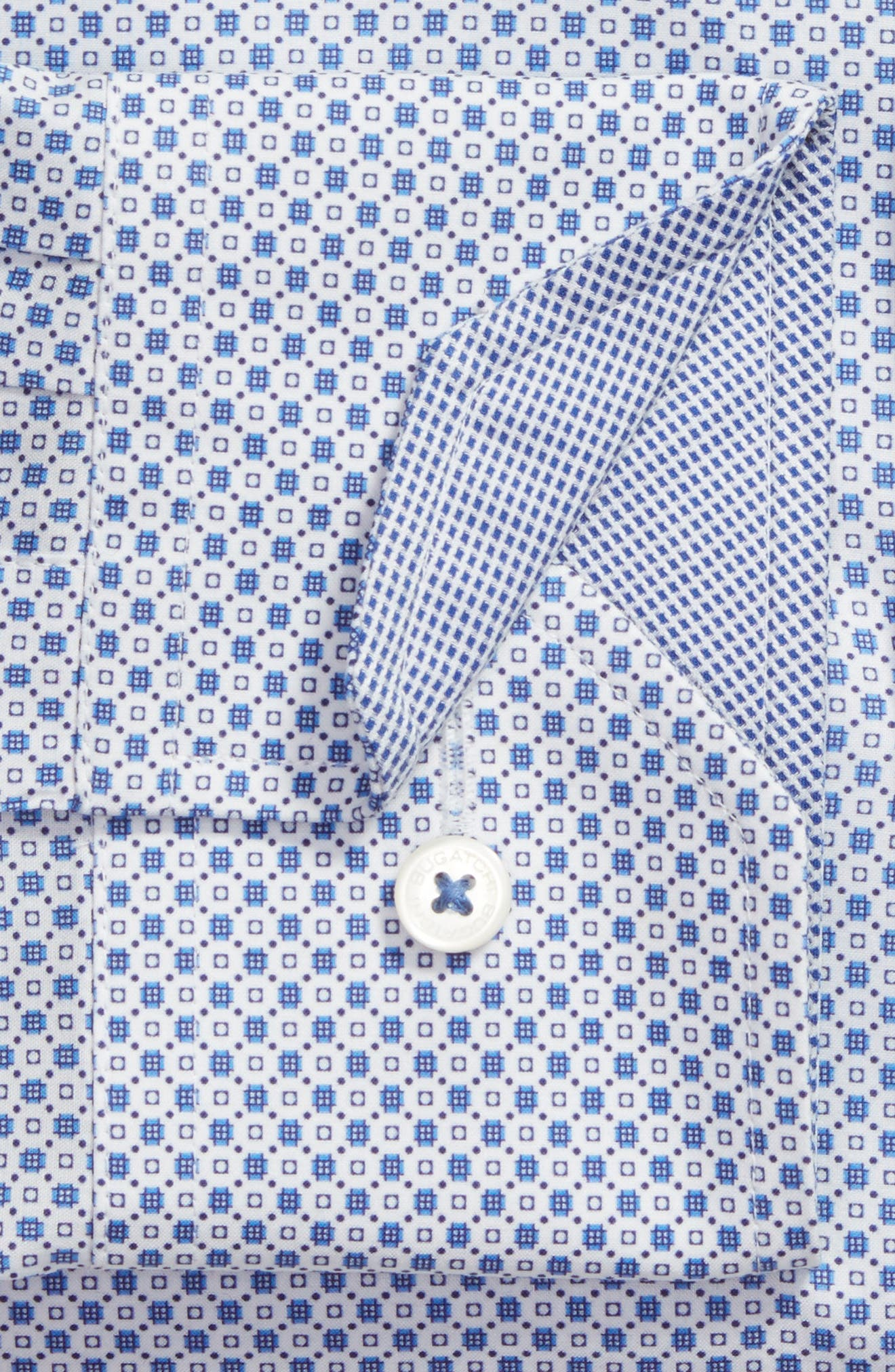 Alternate Image 2  - Bugatchi Trim Fit Print Dress Shirt