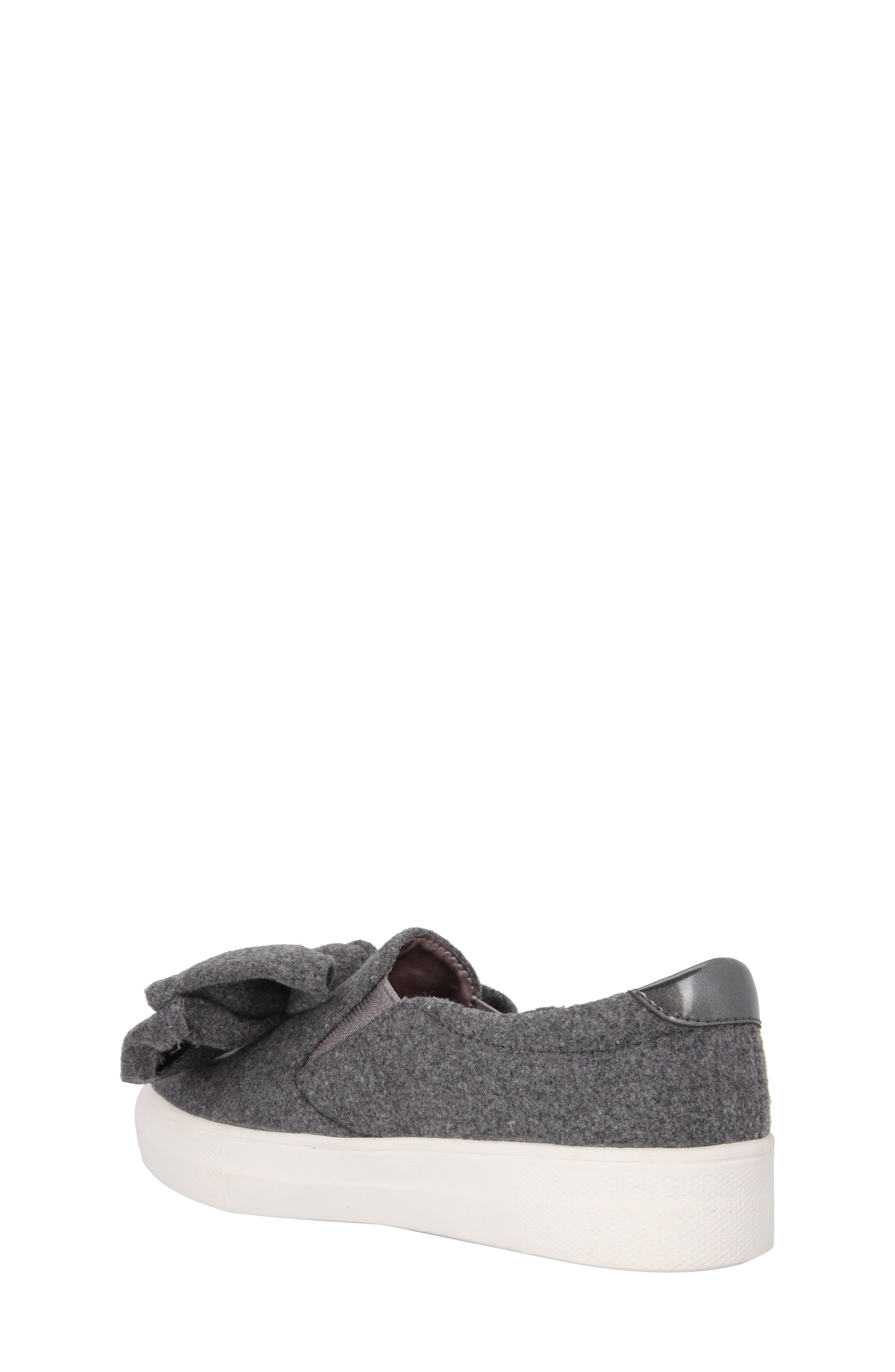 Vaneza Slip-On Bow Sneaker,                             Alternate thumbnail 2, color,                             Grey Flannel