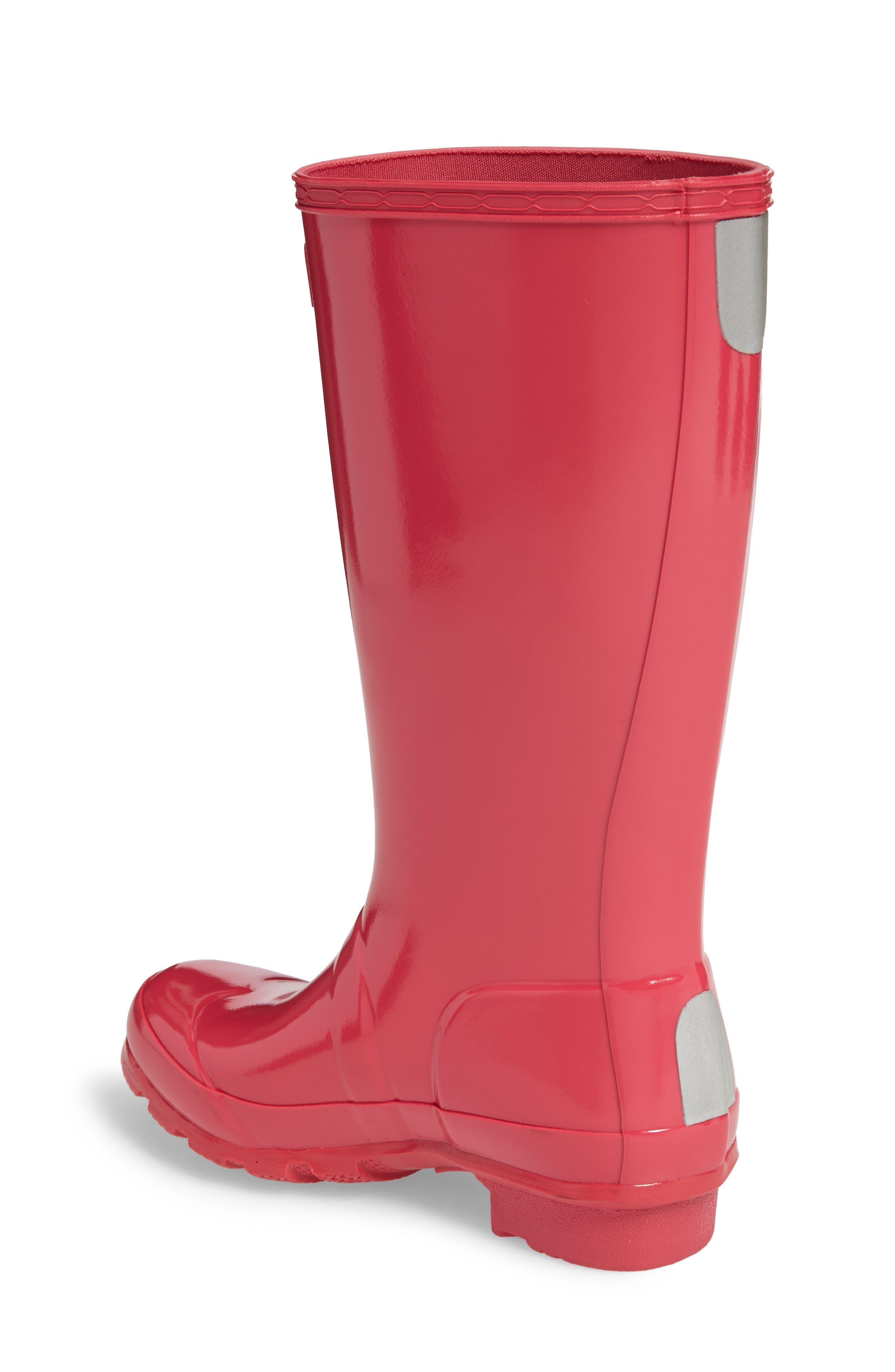'Original Gloss' Rain Boot,                             Alternate thumbnail 2, color,                             Bright Pink