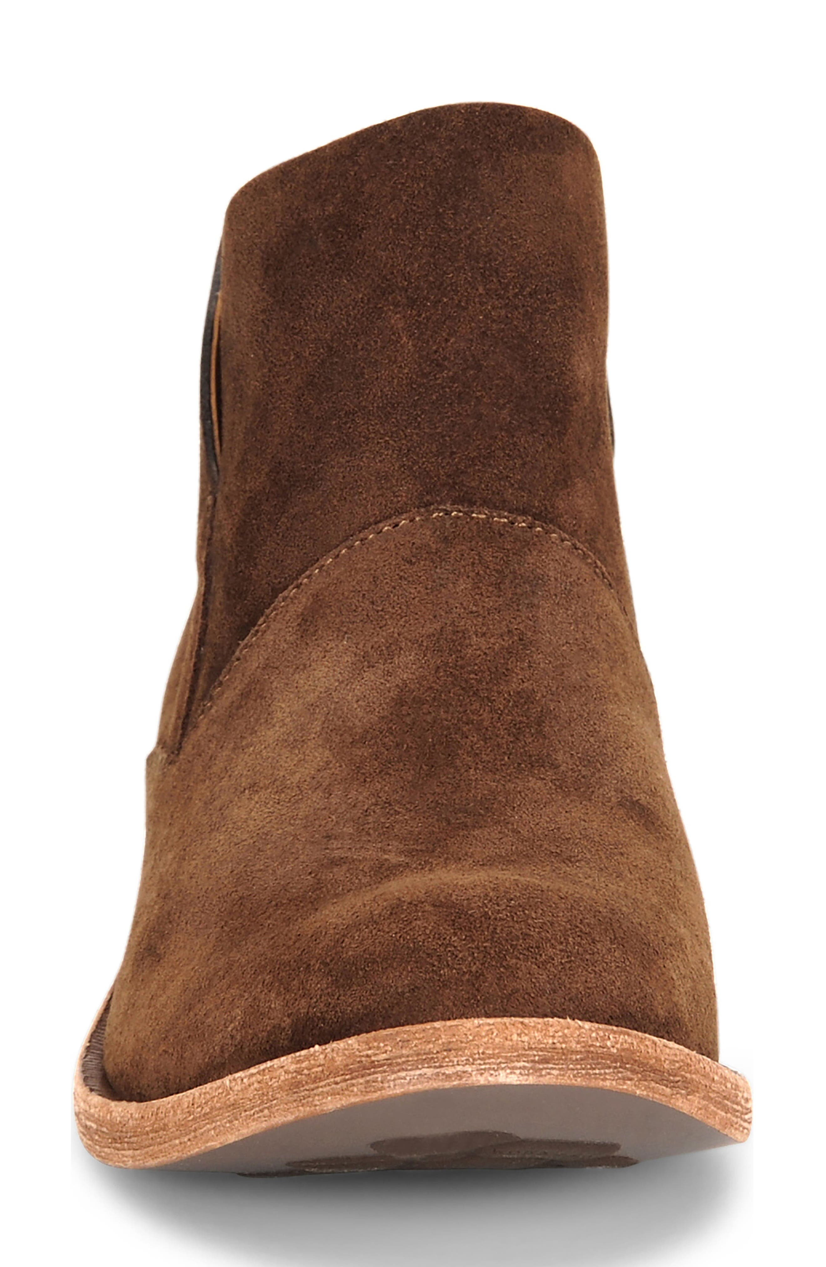 Ryder Ankle Boot,                             Alternate thumbnail 4, color,                             Rust Suede