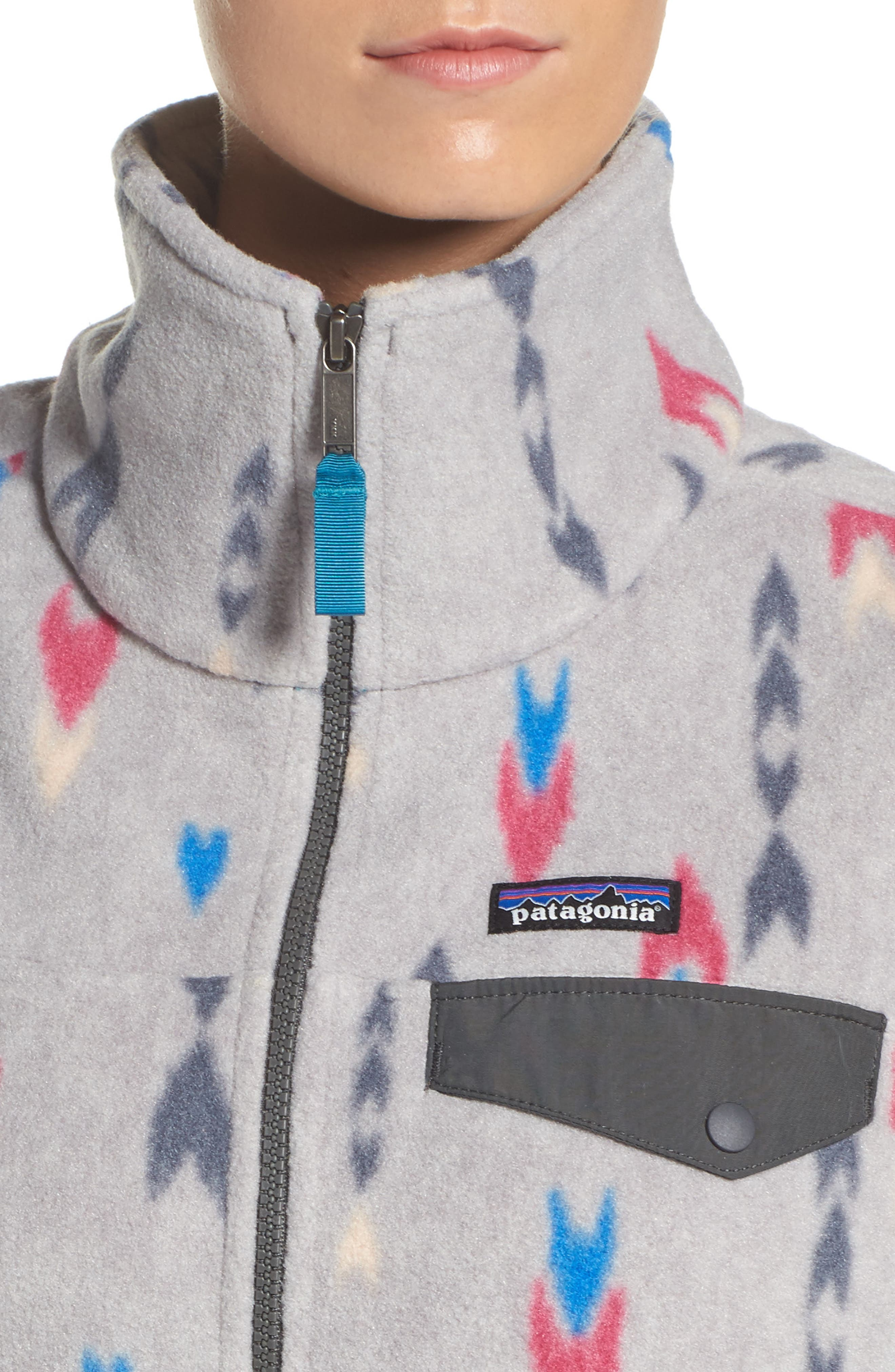 Snap-T<sup>®</sup> Fleece Vest,                             Alternate thumbnail 4, color,                             Wish Tails Big/ Craft Pink