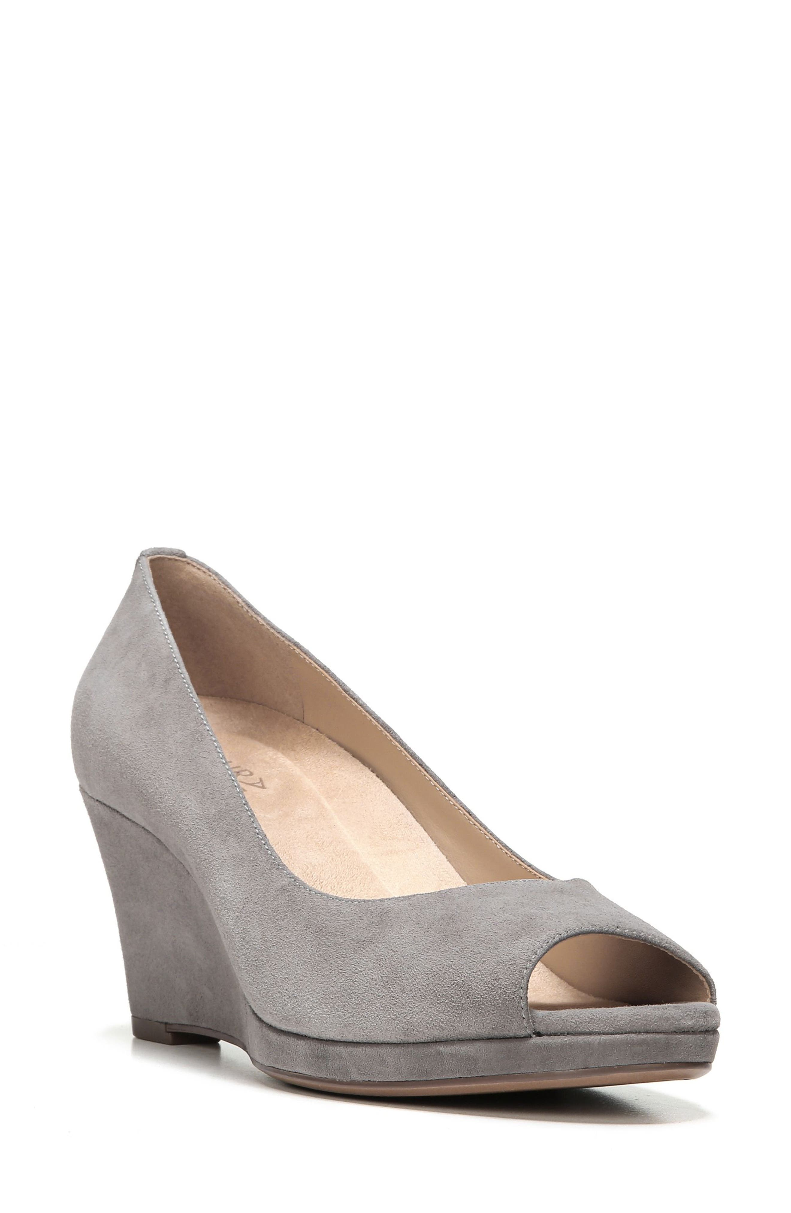 Alternate Image 1 Selected - Naturalizer Olivia Peep Toe Wedge (Women)