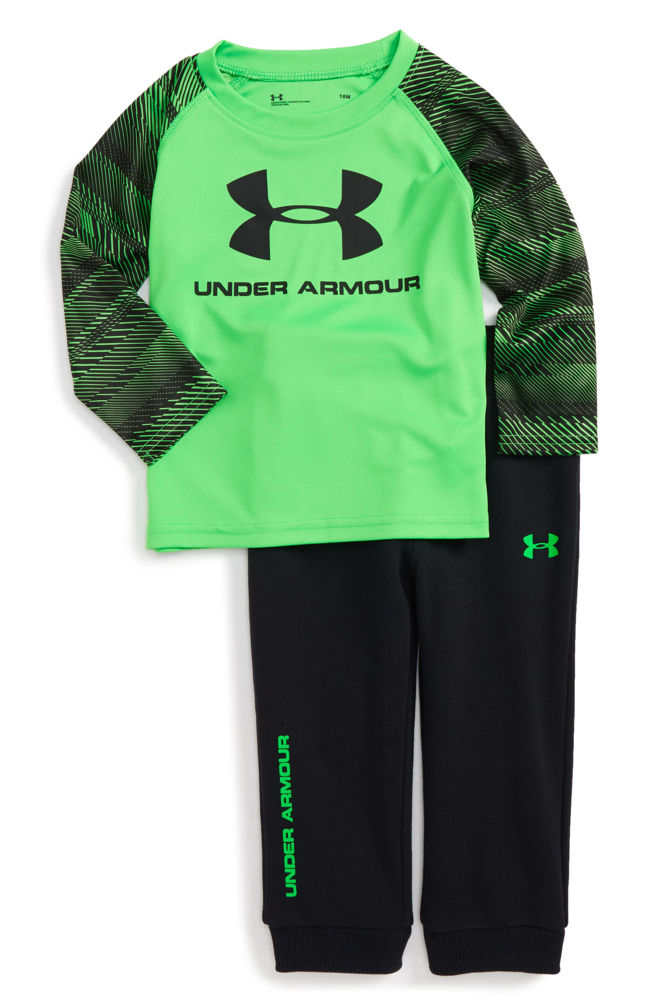 Main Image - Under Armour Speedlines Core T-Shirt & Pants Set (Baby Boys)
