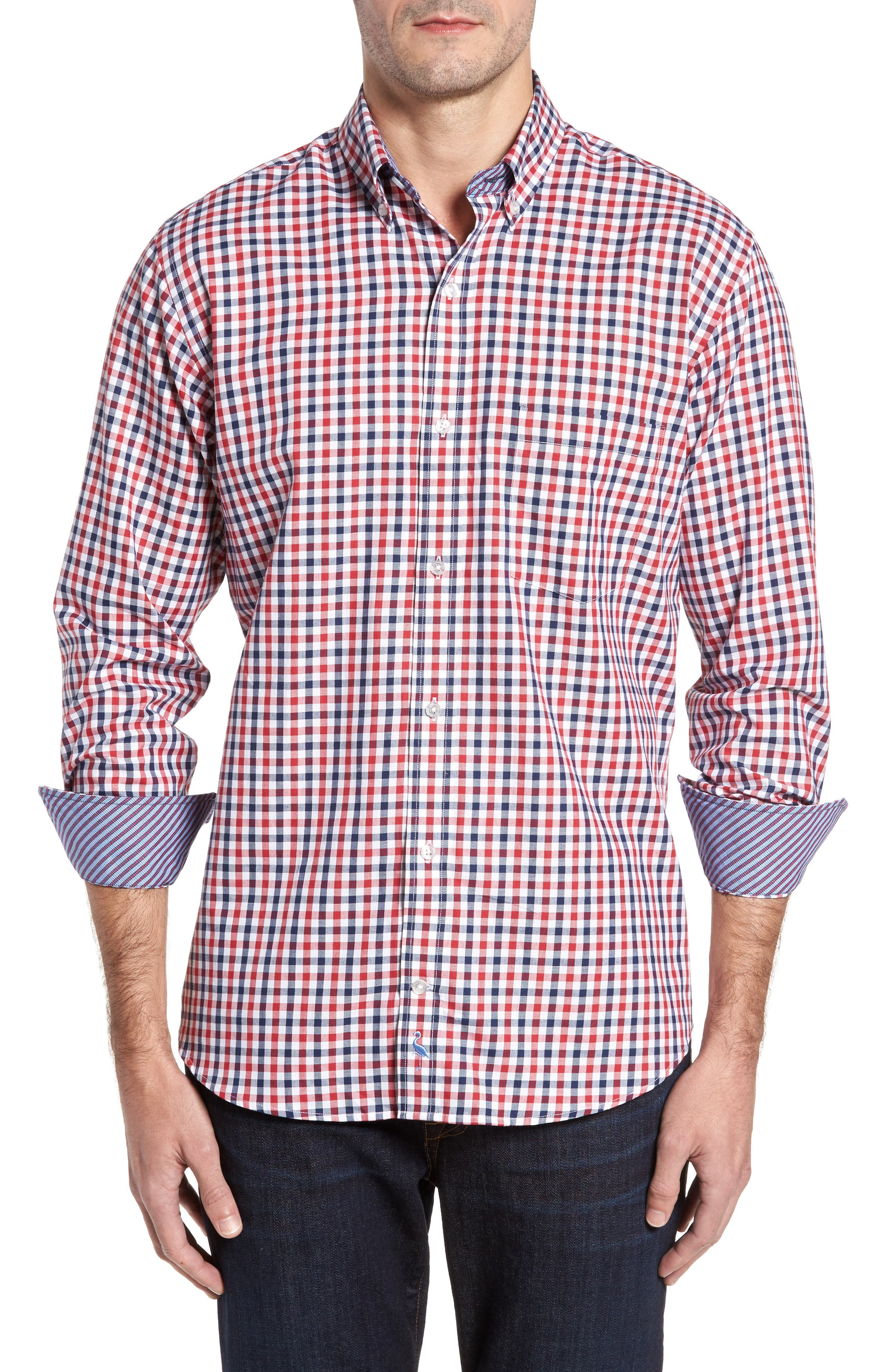 Main Image - TailorByrd Bernice Check Sport Shirt