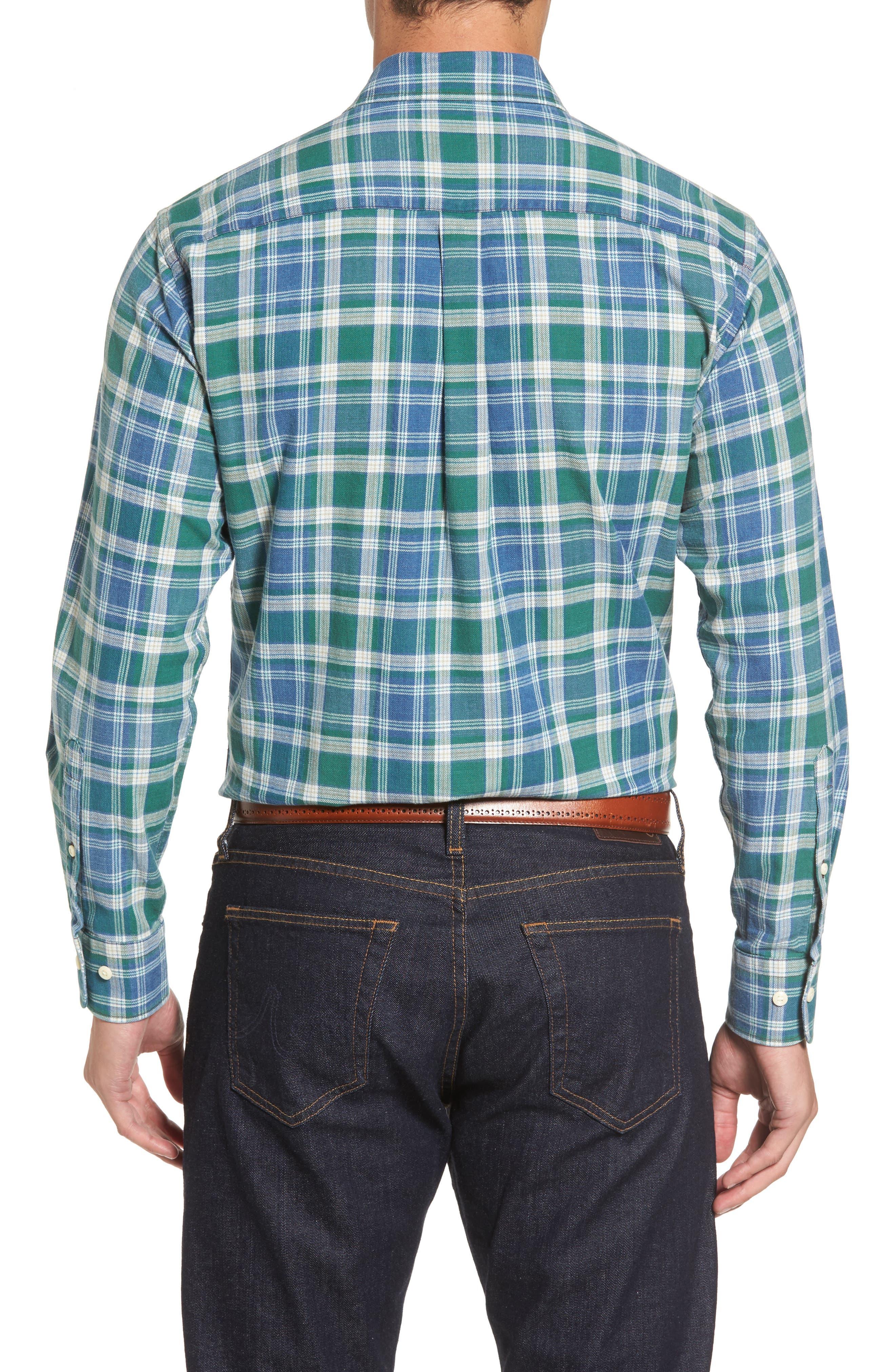 Alternate Image 2  - Peter Millar Rocky Regular Fit Plaid Sport Shirt
