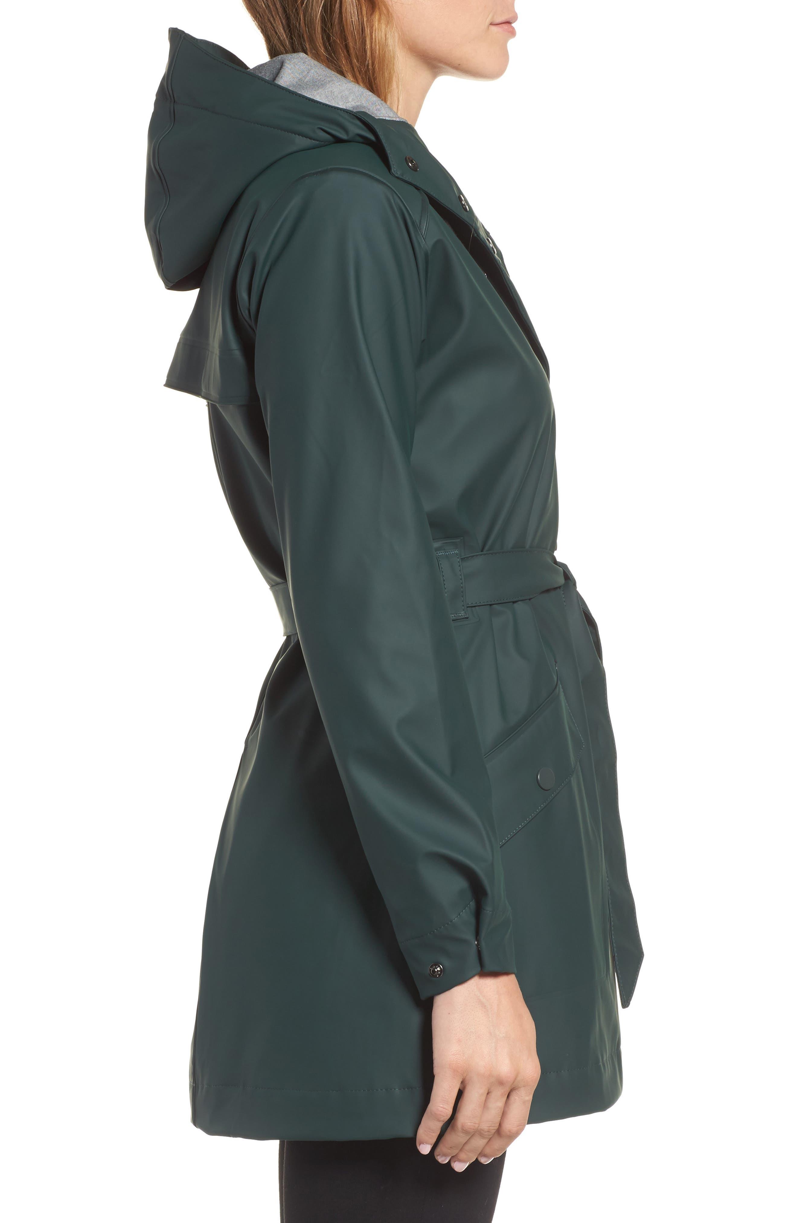 Kirkwall Raincoat,                             Alternate thumbnail 3, color,                             Darkest Spruce