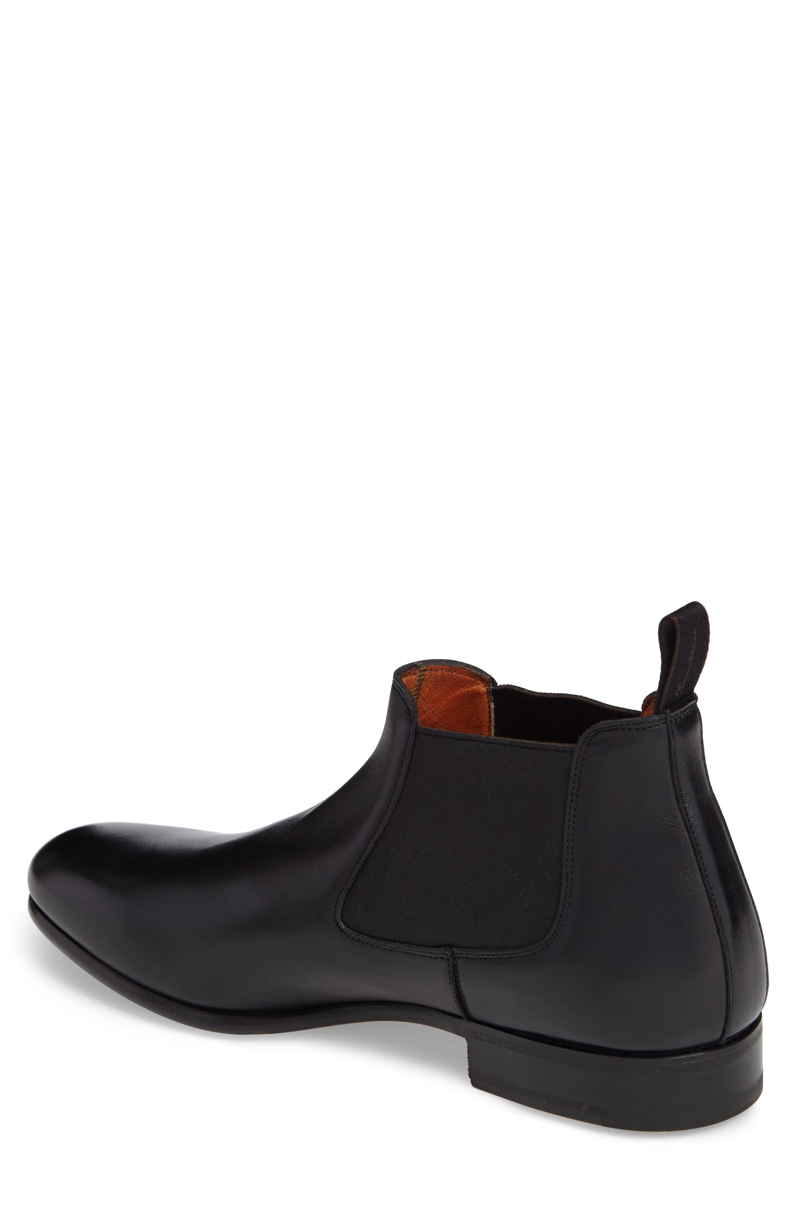 Gunther Chelsea Boot,                             Alternate thumbnail 2, color,                             Black Leather