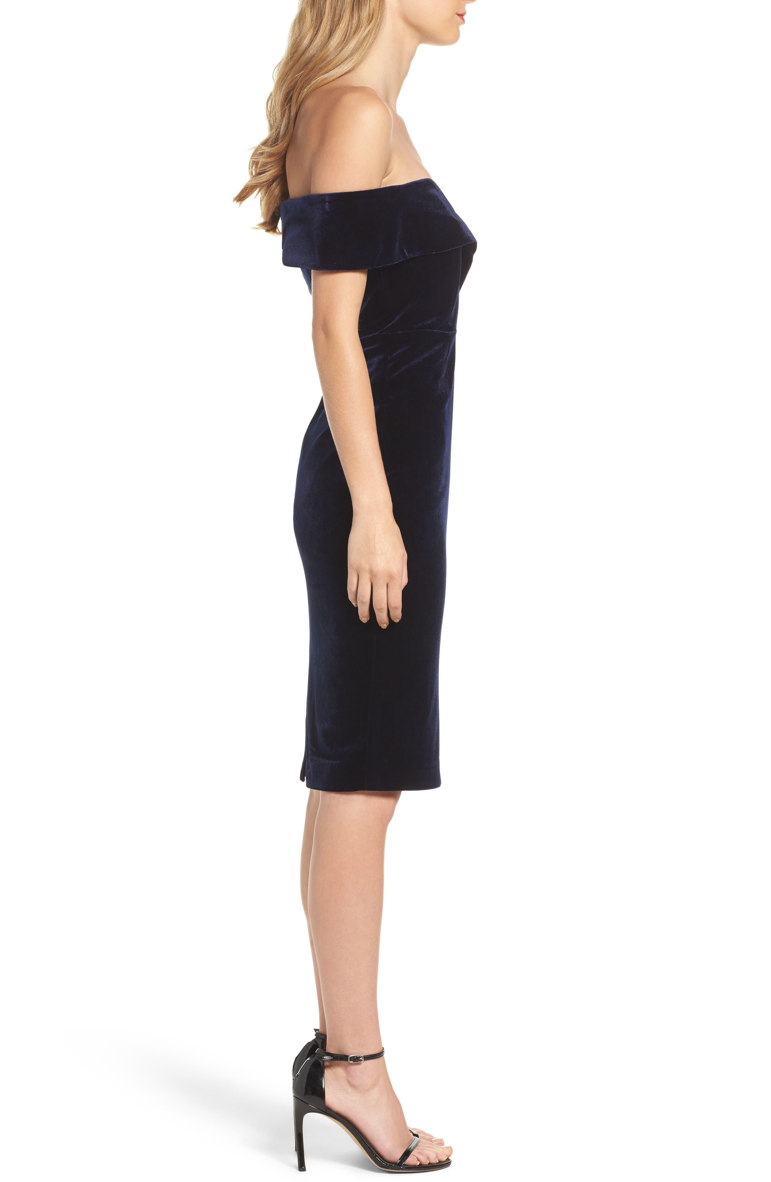 Alternate Image 3  - Bardot Bella Velvet Off the Shoulder Dress