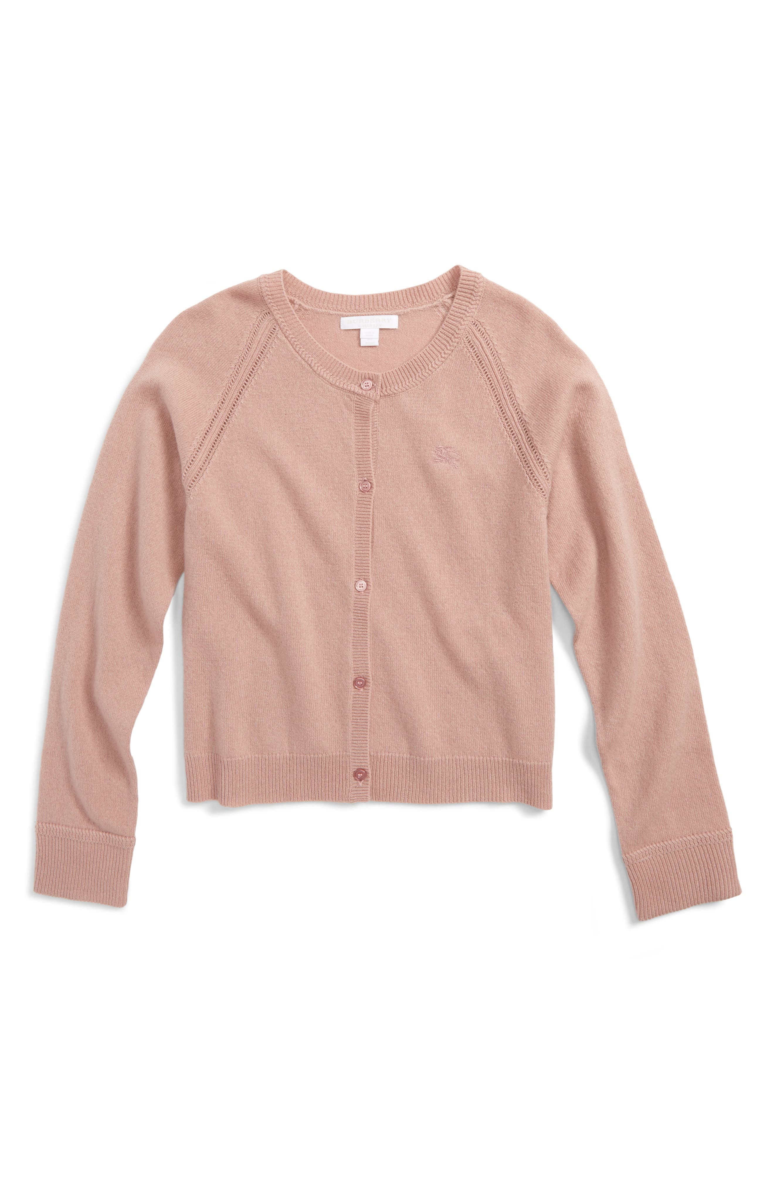 Alternate Image 1 Selected - Burberry Gema Cashmere Cardigan (Little Girls & Big Girls)