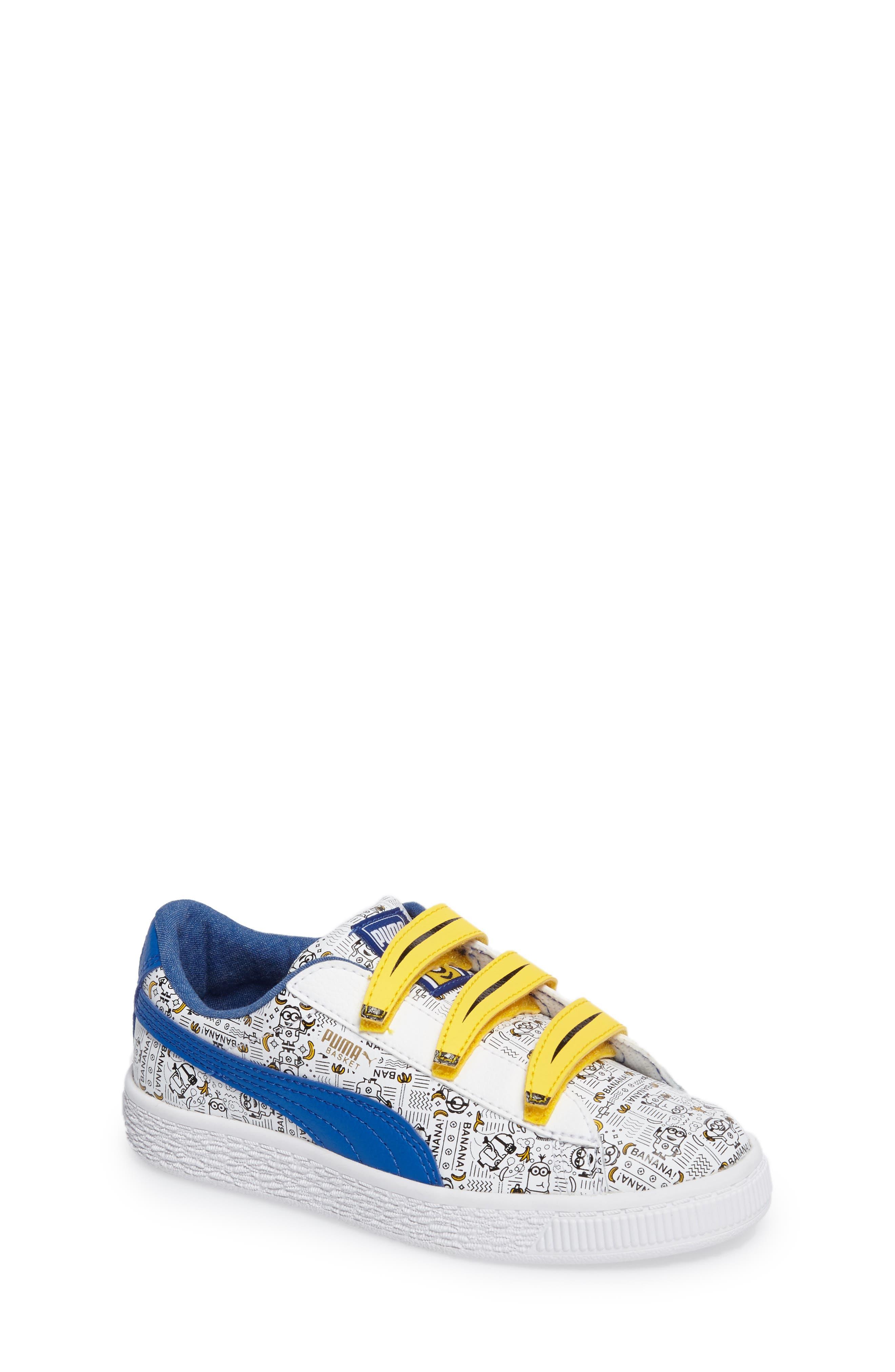 Alternate Image 1 Selected - PUMA Minions Basket V Sneaker (Toddler, Little Kid & Big Kid)
