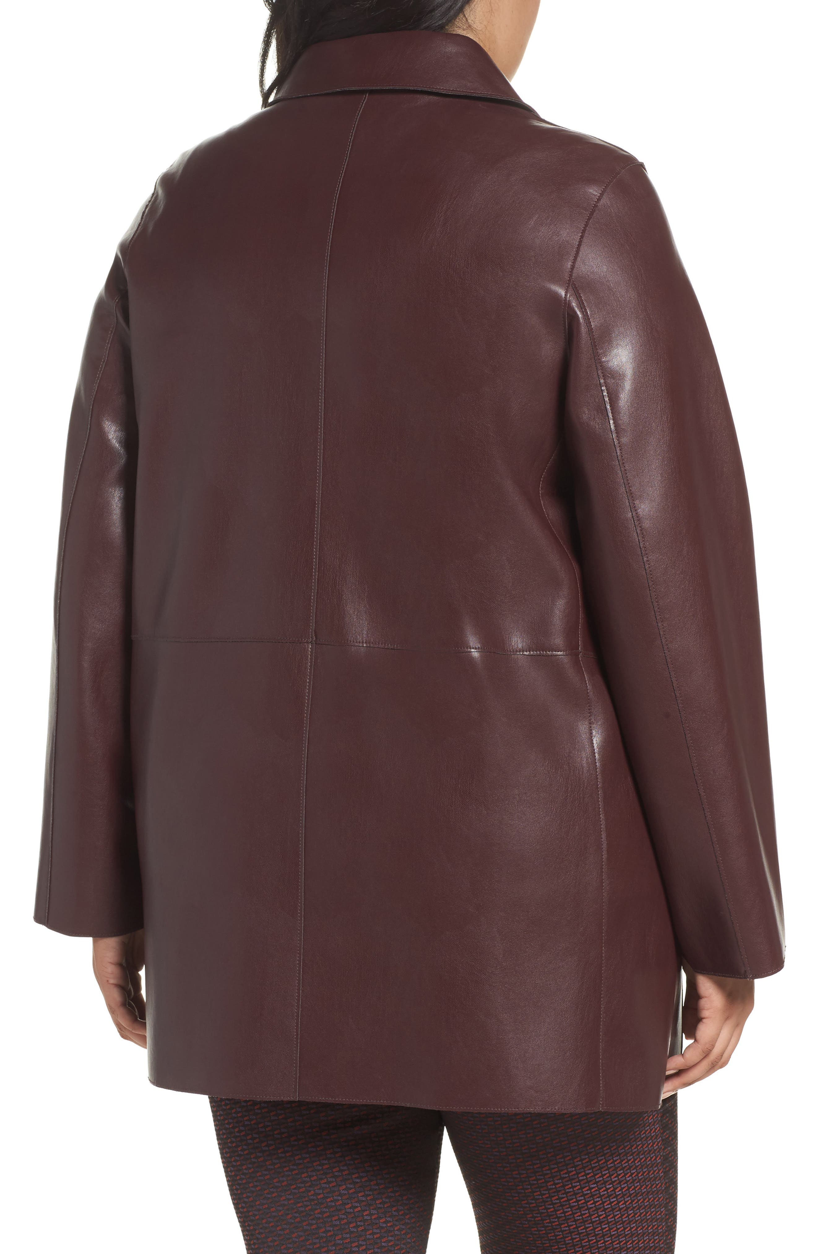 Alternate Image 2  - Persona by Marina Rinaldi Narrare Faux Leather Coat (Plus Size)