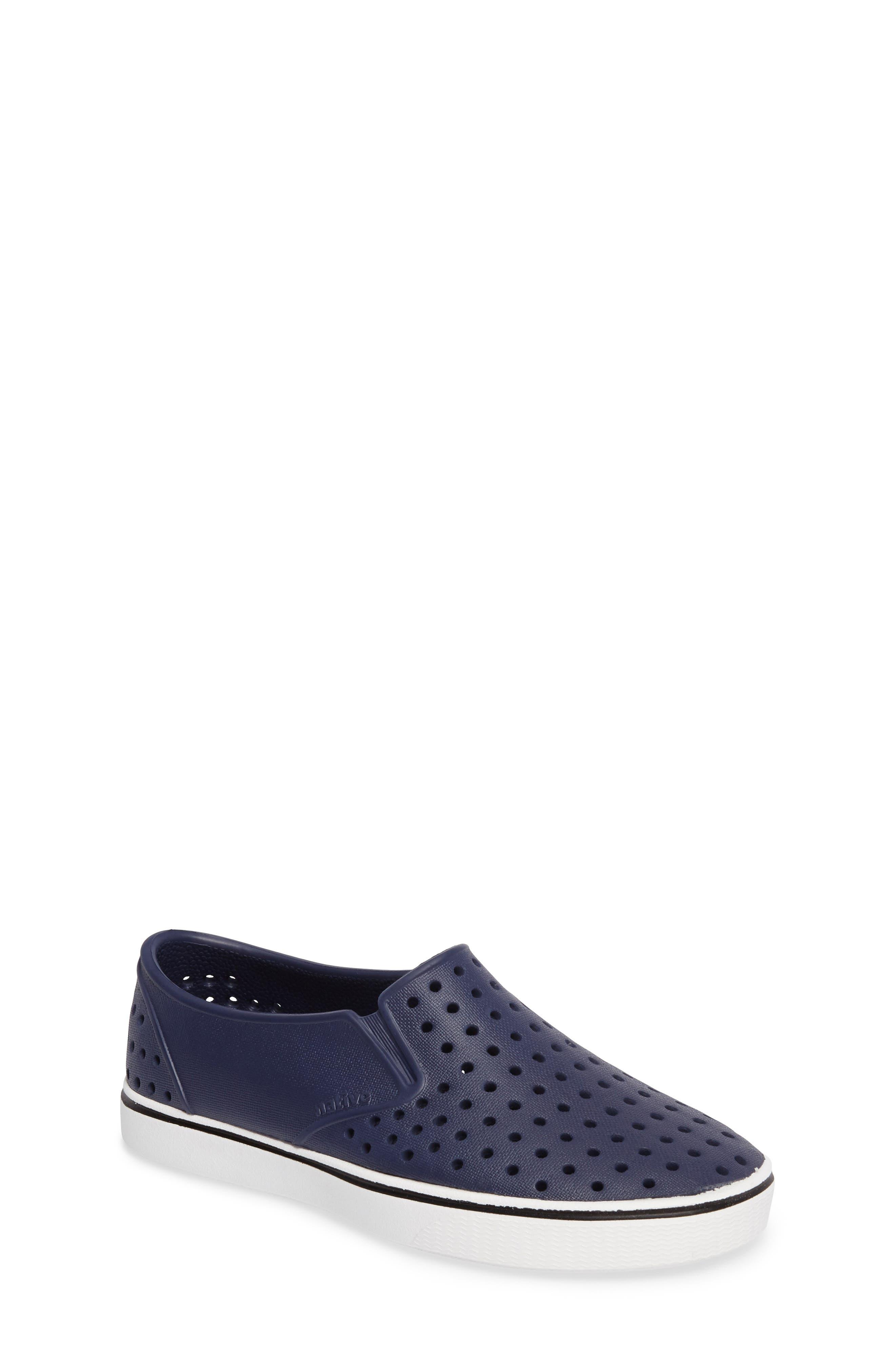 Miles Water Friendly Slip-On Sneaker,                         Main,                         color, Regatta Blue/ Shell White
