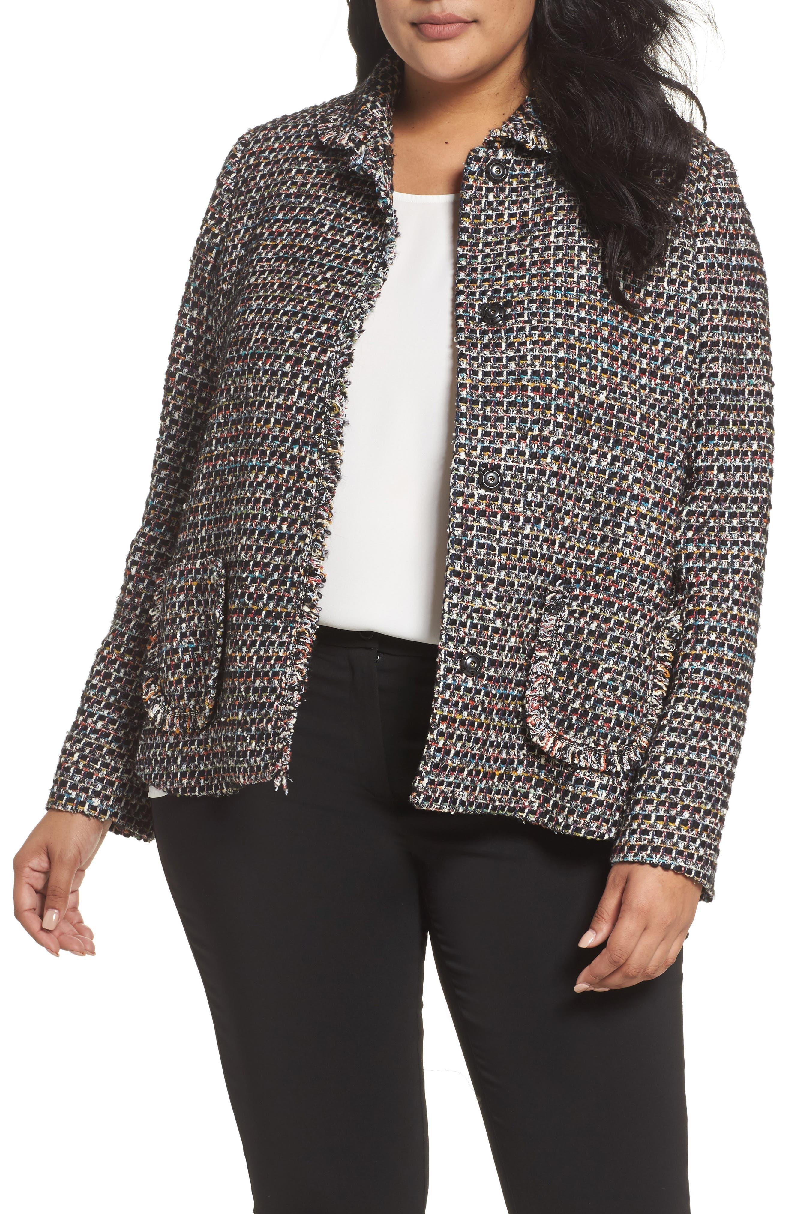 Carla Bouclé Jacket,                         Main,                         color, Tweed