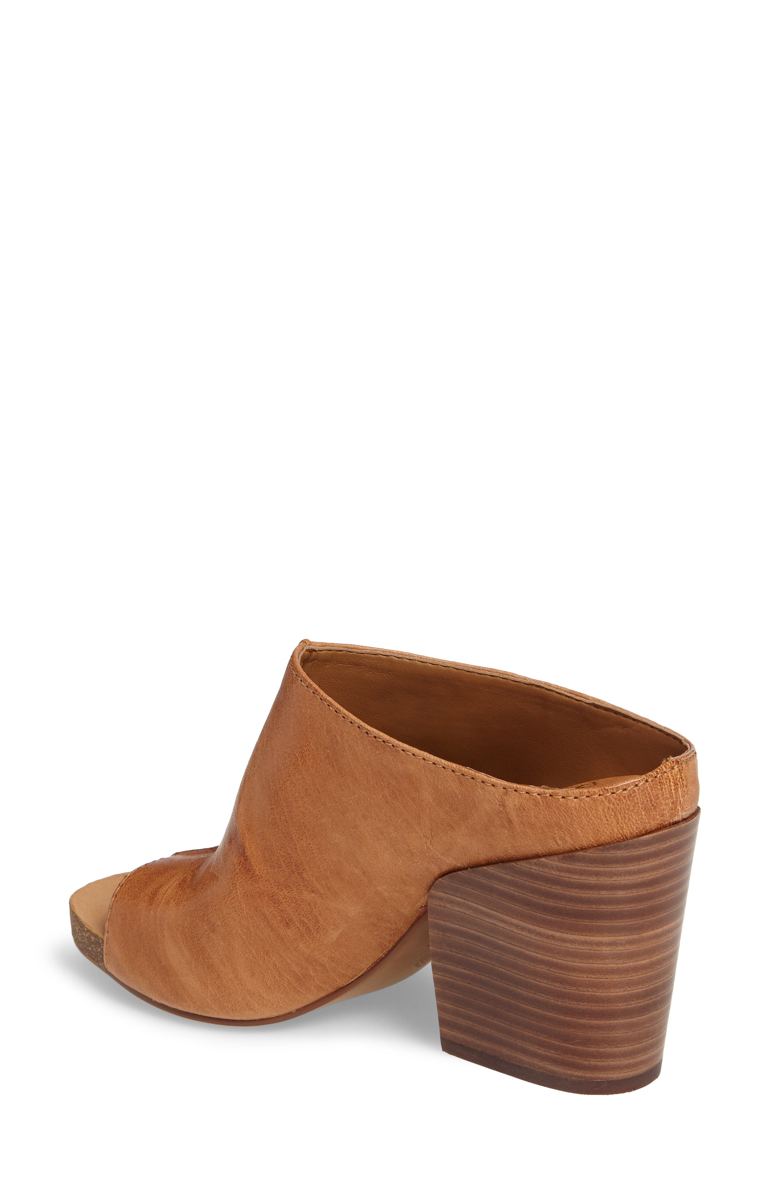 Isabella Open Toe Mule,                             Alternate thumbnail 2, color,                             Luggage Leather