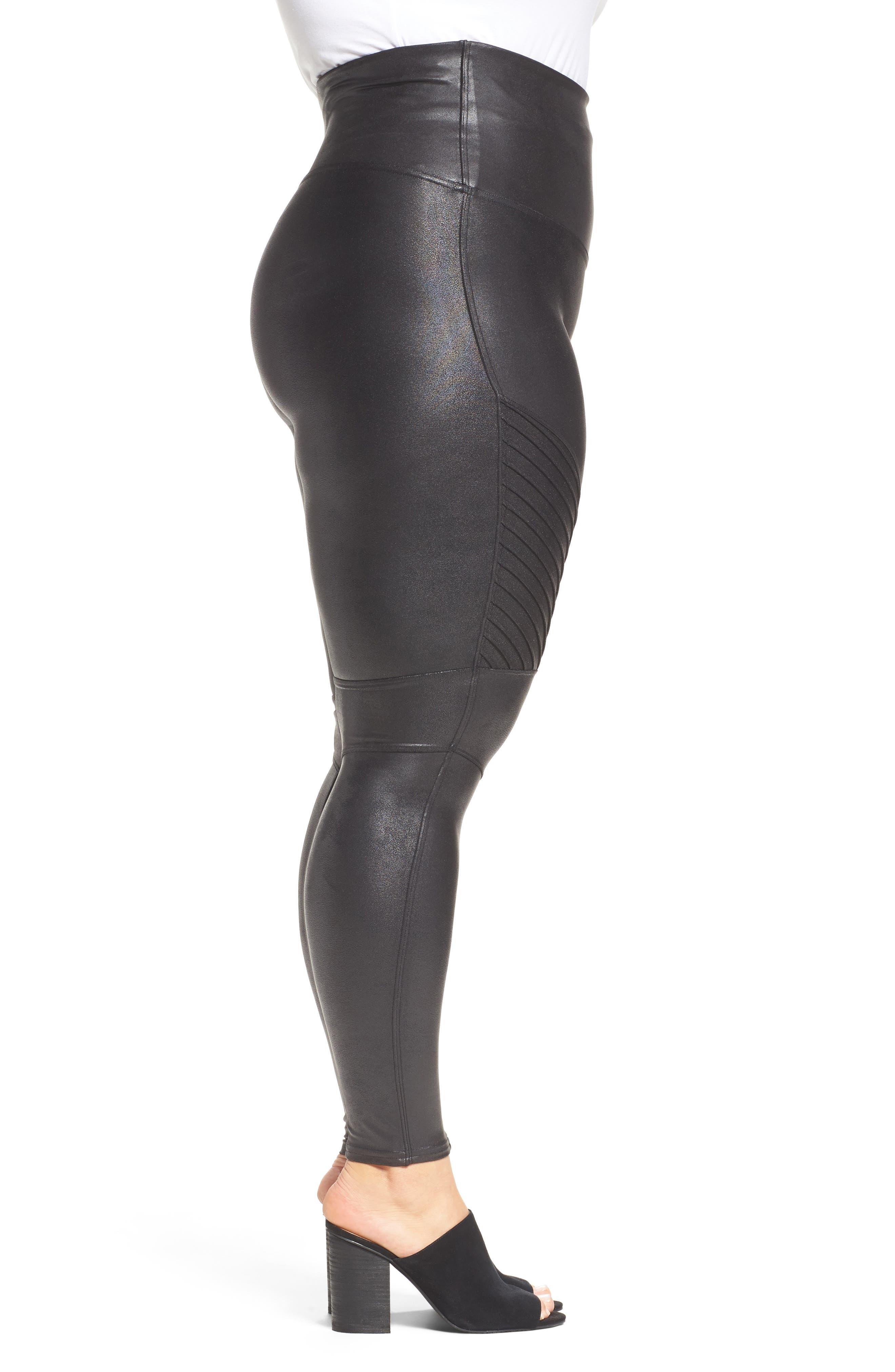 Alternate Image 3  - SPANX® High Waist Moto Leggings (Plus Size)