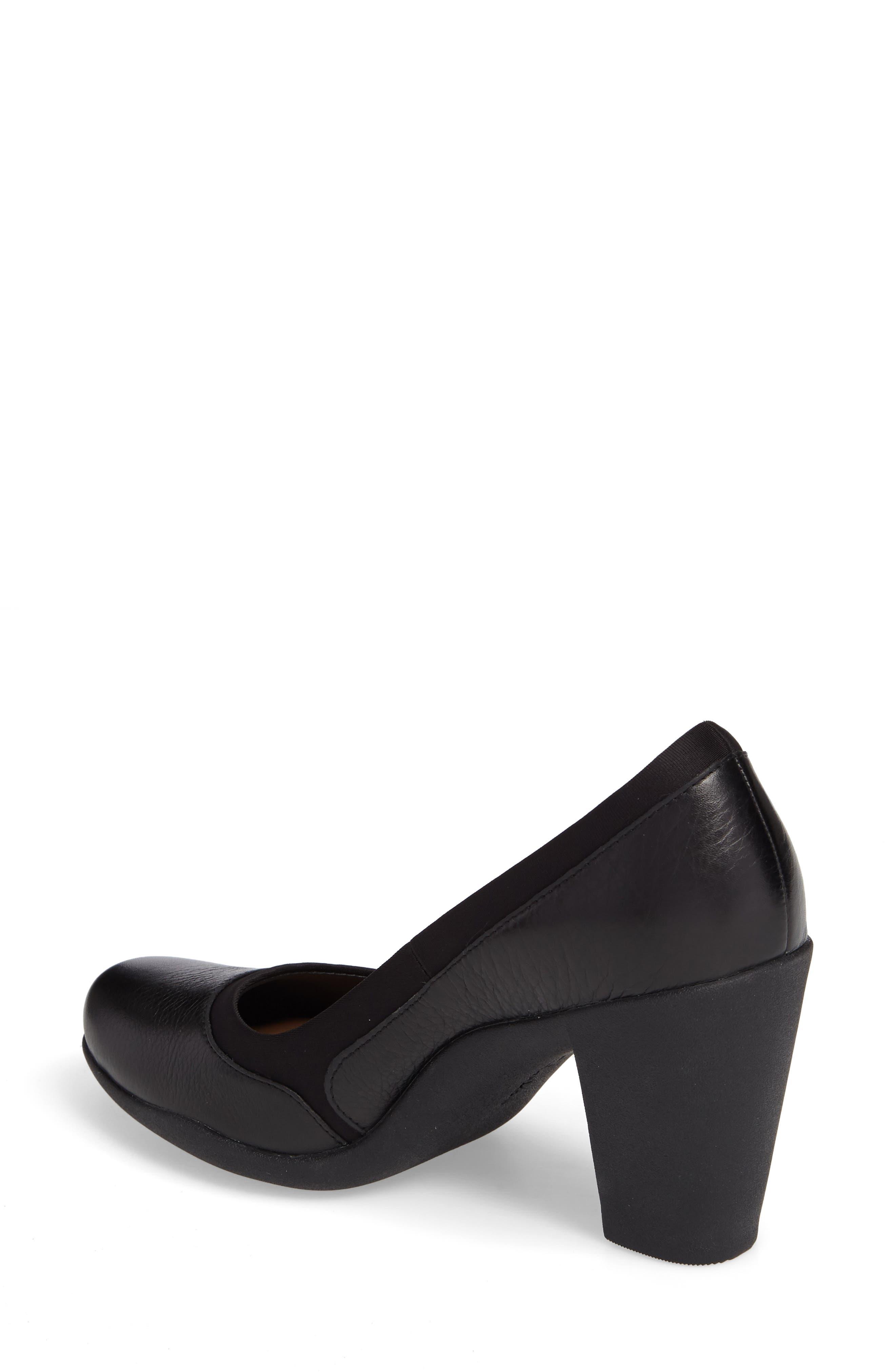 Ayda Maia Pump,                             Alternate thumbnail 2, color,                             Black Leather