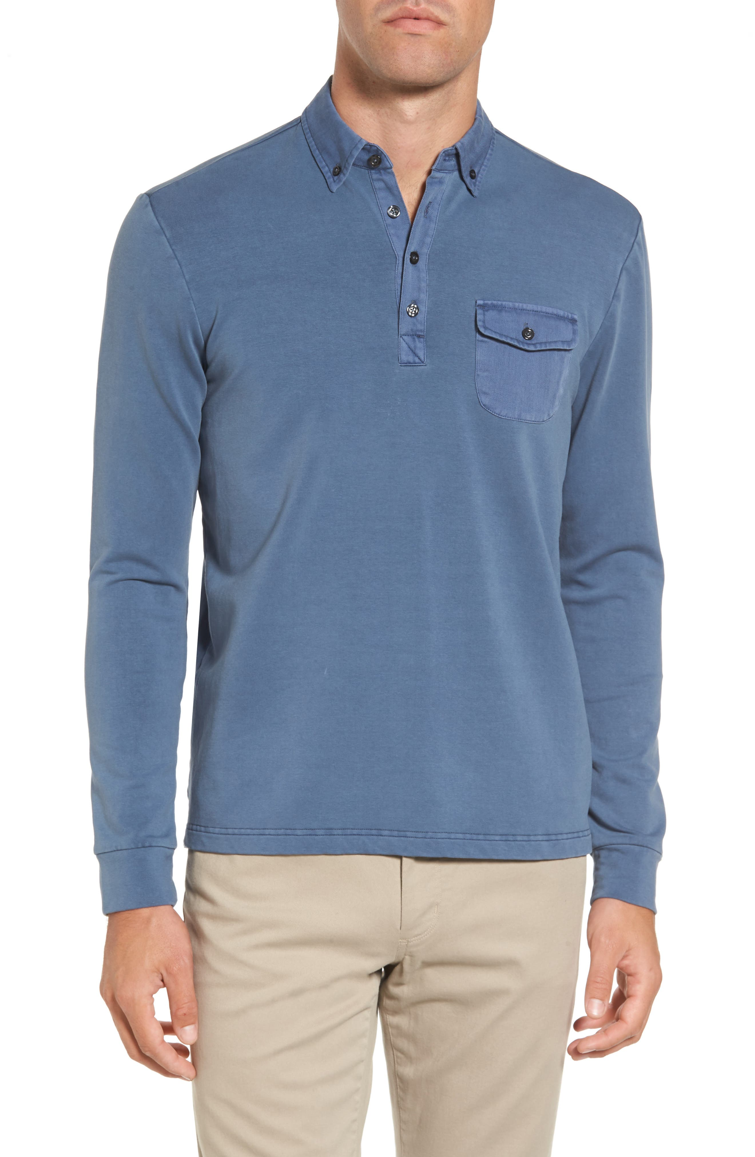 Michael Bastian French Terry Rugby Shirt